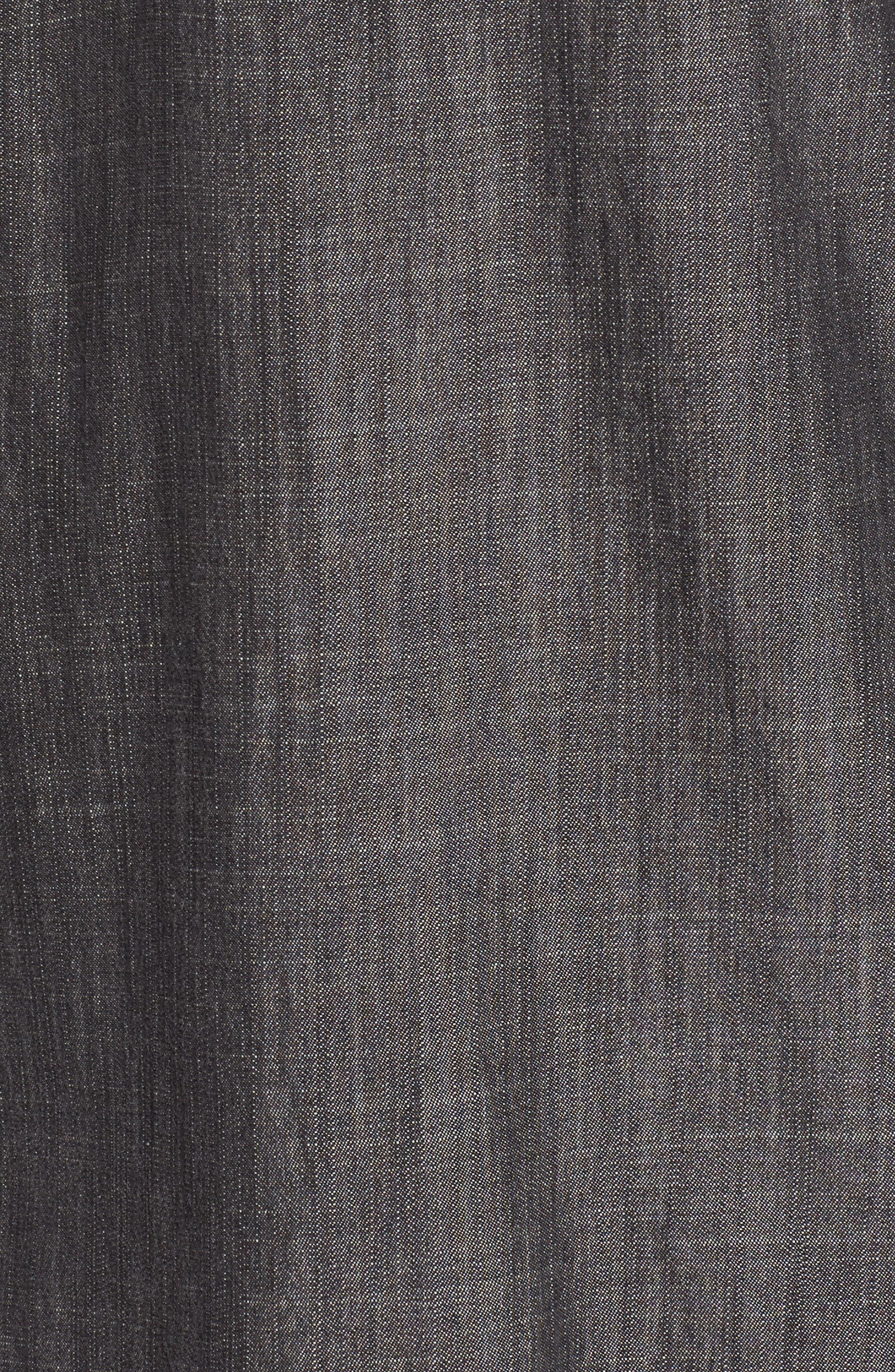 Tencel<sup>®</sup> Lyocell & Organic Cotton Tunic Shirt,                             Alternate thumbnail 5, color,                             Black