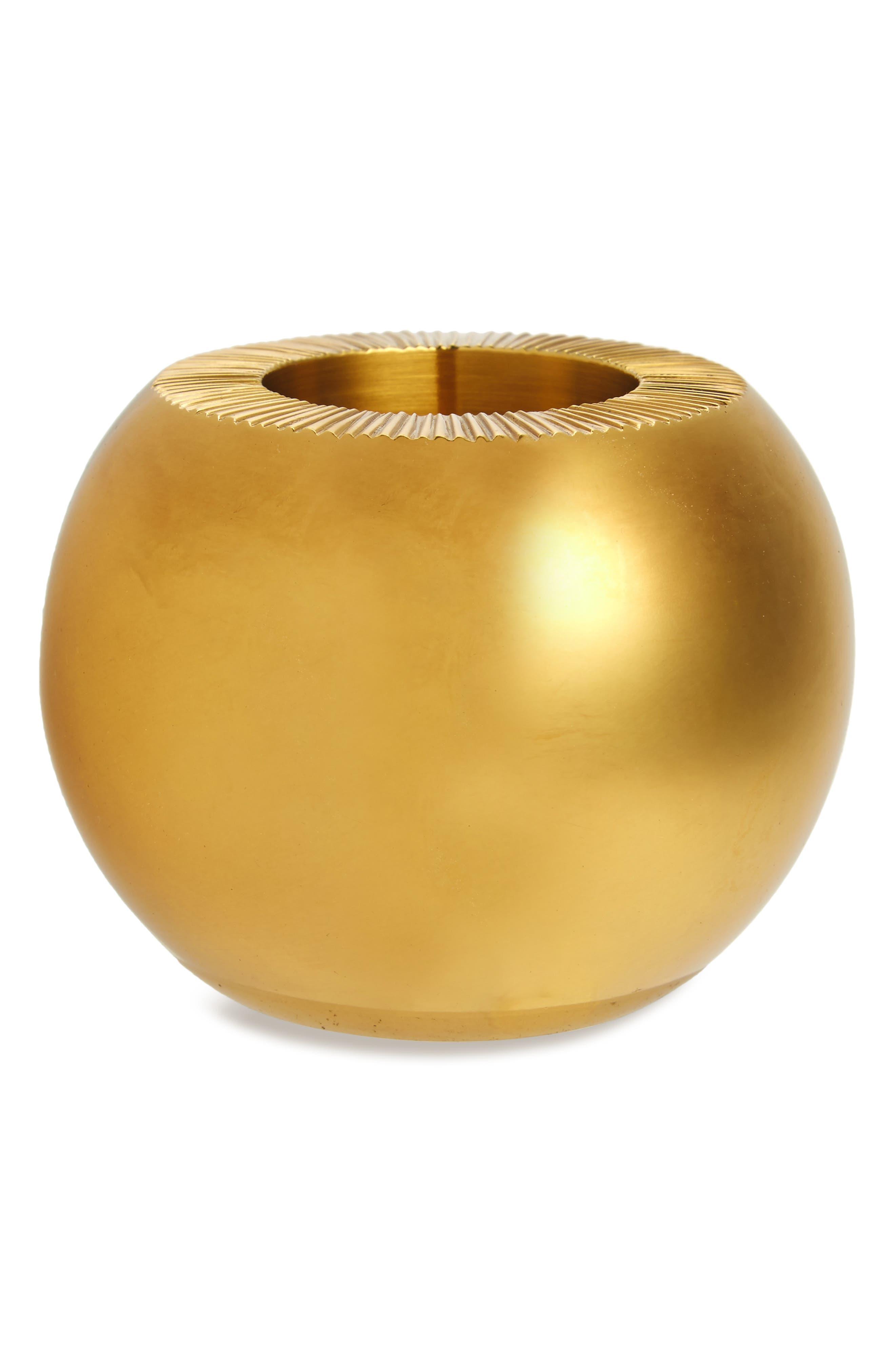 Brass Match Holder,                         Main,                         color, Metallic Gold