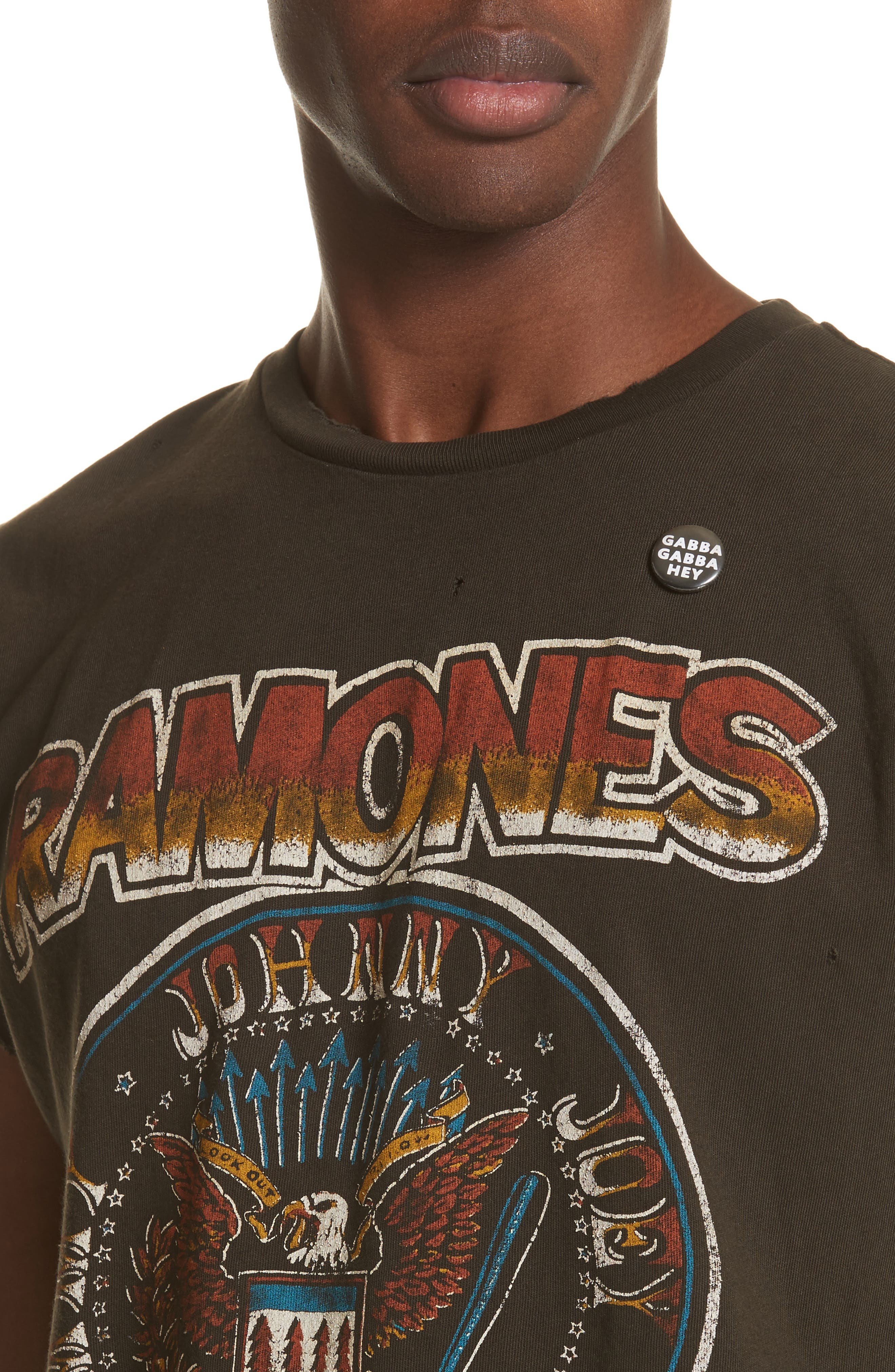 Ramones Graphic T-Shirt,                             Alternate thumbnail 4, color,                             Dirty Black