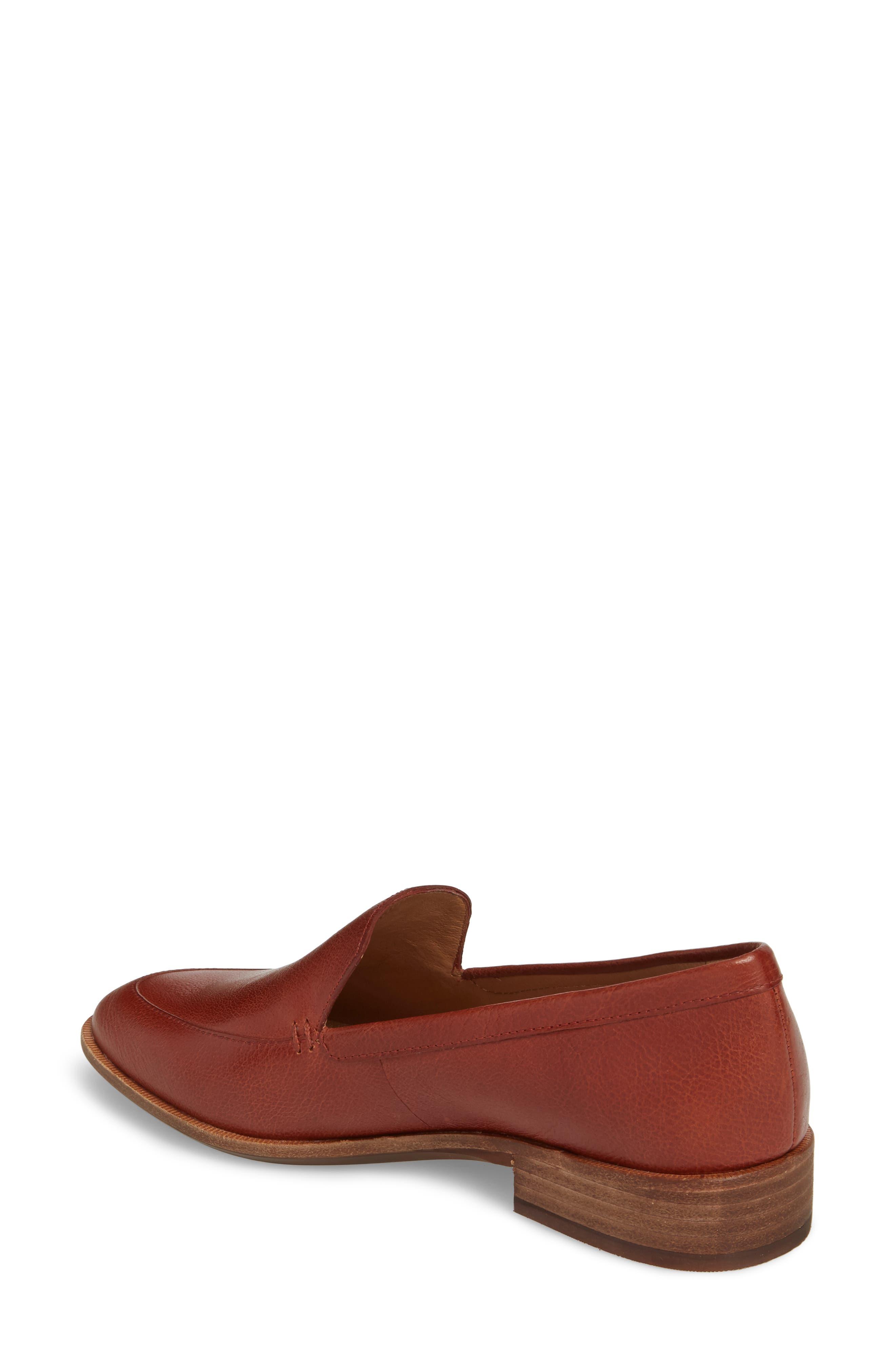 Frances Loafer,                             Alternate thumbnail 2, color,                             Burnished Mahogany Leather