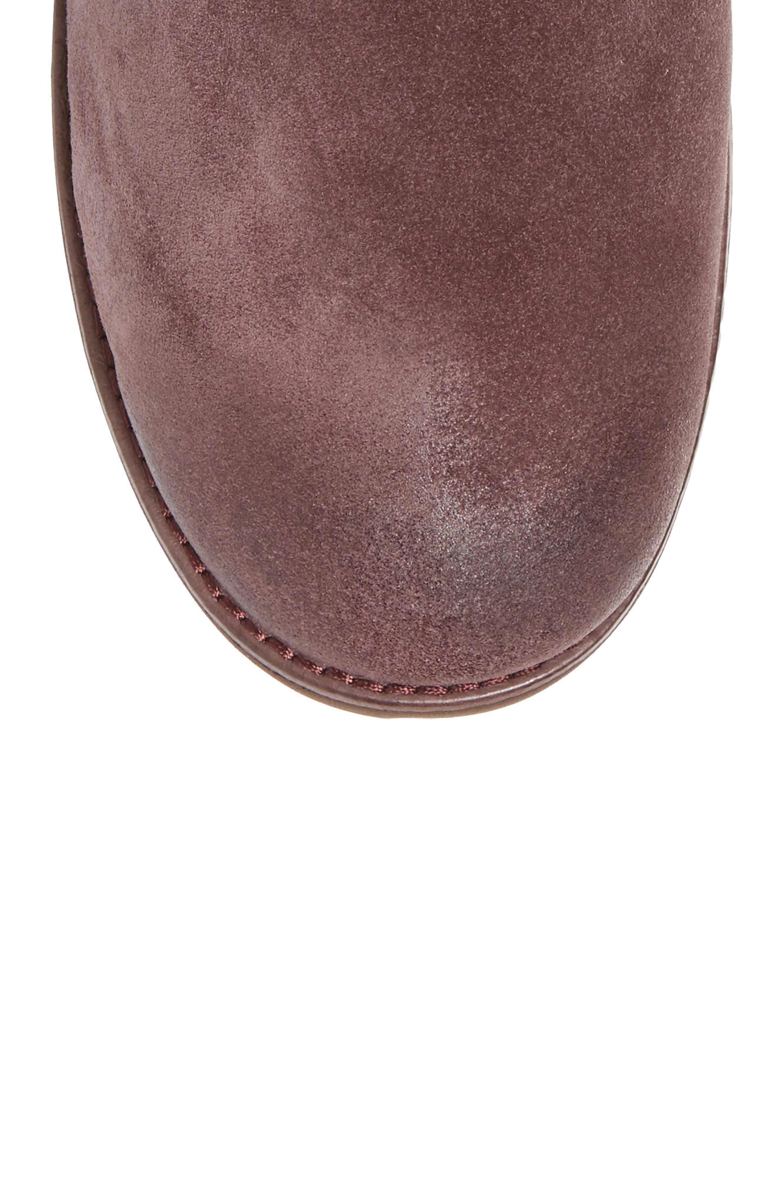 Mini Zip Waterproof Boot,                             Alternate thumbnail 5, color,                             Cordovan