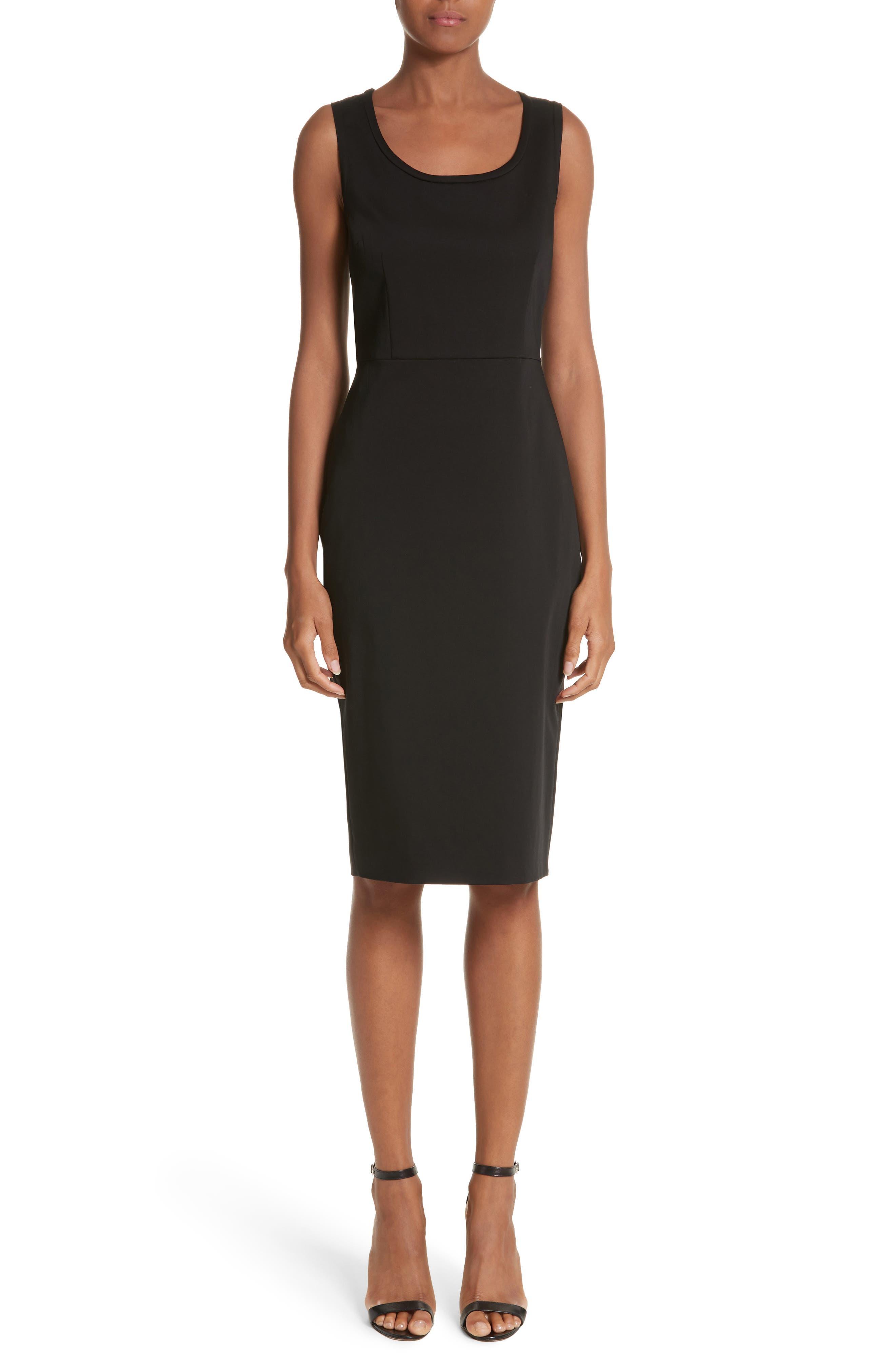 Segnale Sheath Dress,                         Main,                         color, Black