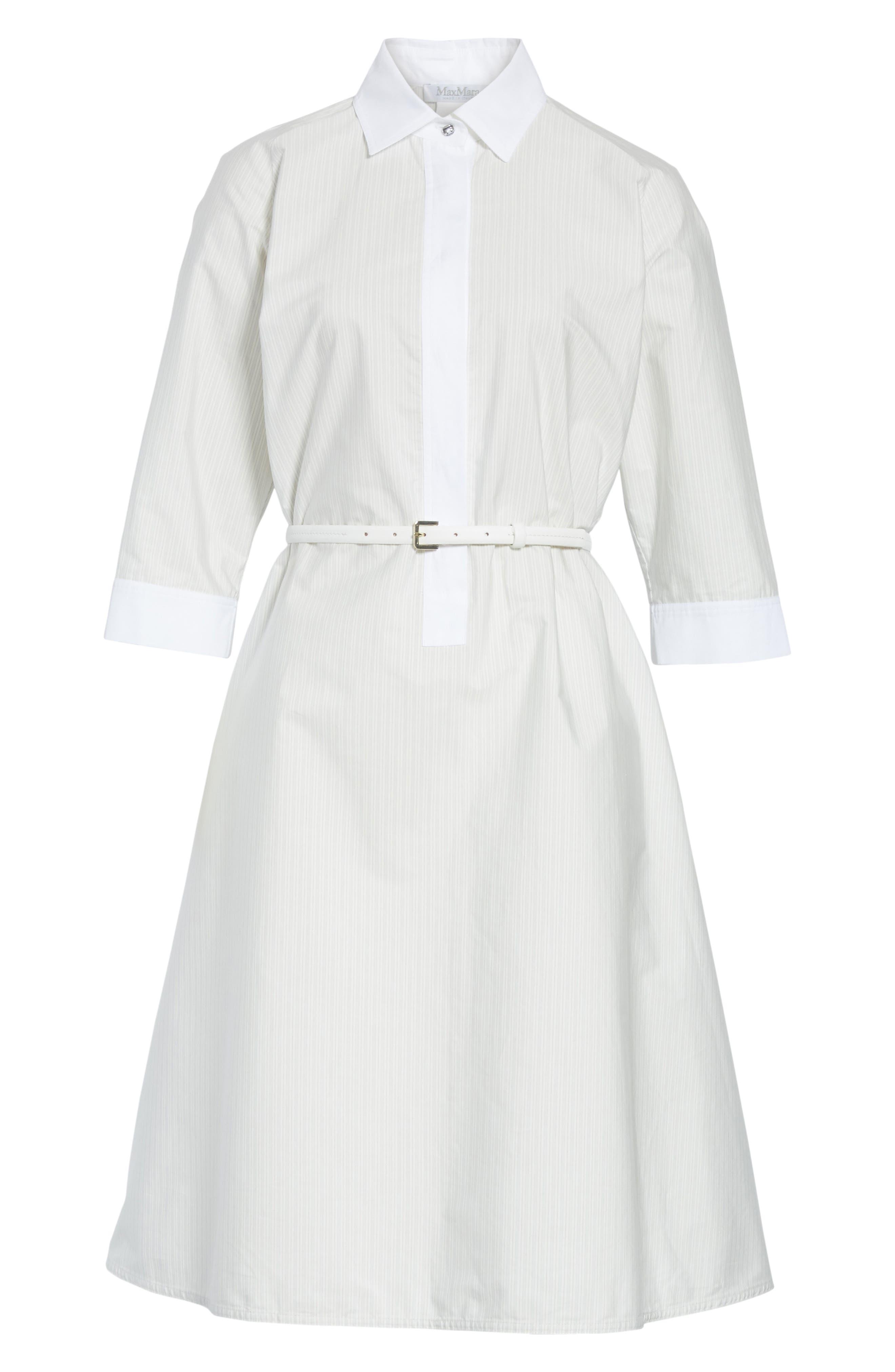 Parola Cotton Shirtdress,                             Alternate thumbnail 6, color,                             Light Grey