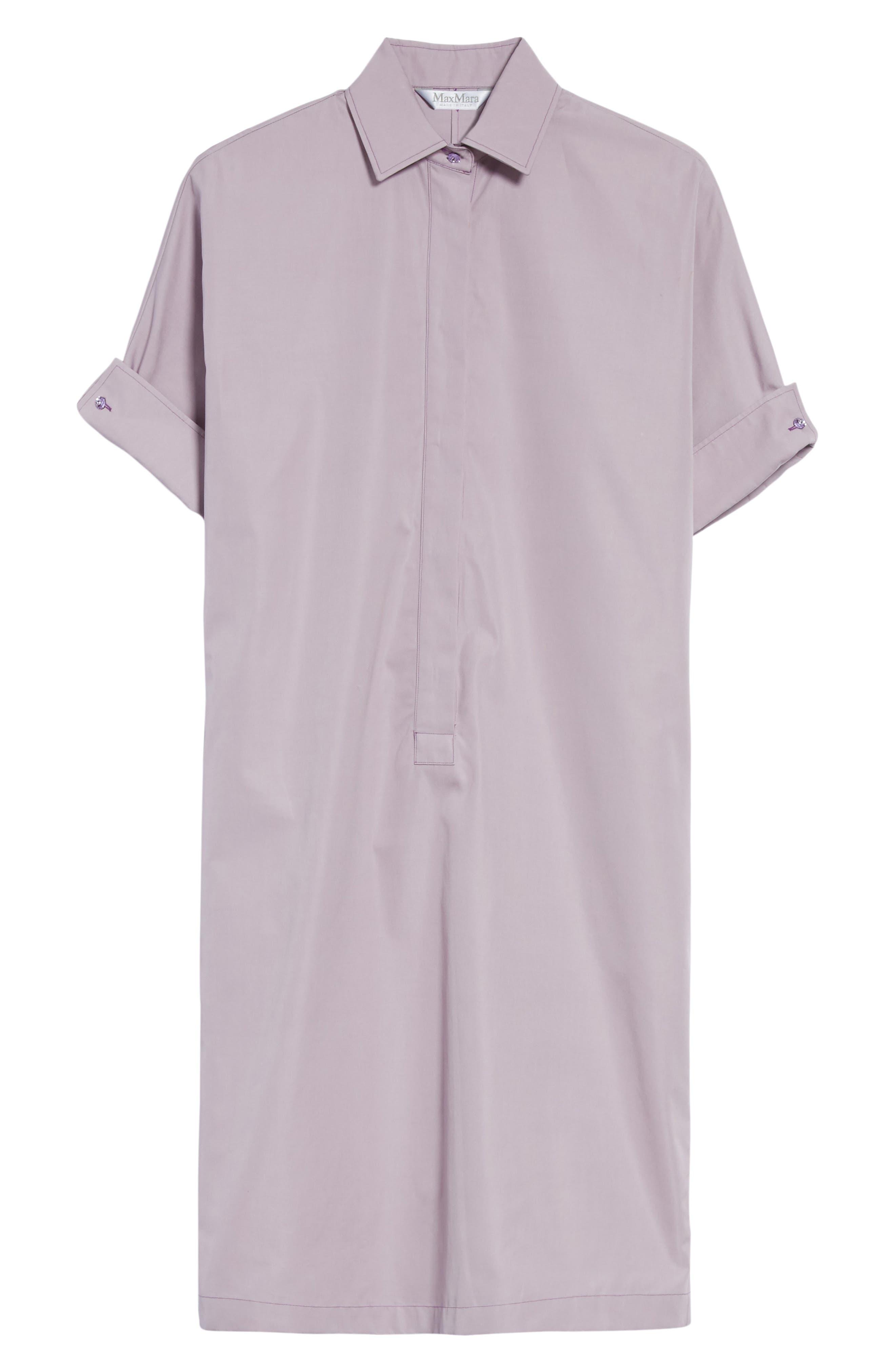 Alternate Image 7  - Max Mara Baccano Cotton Shirtdress