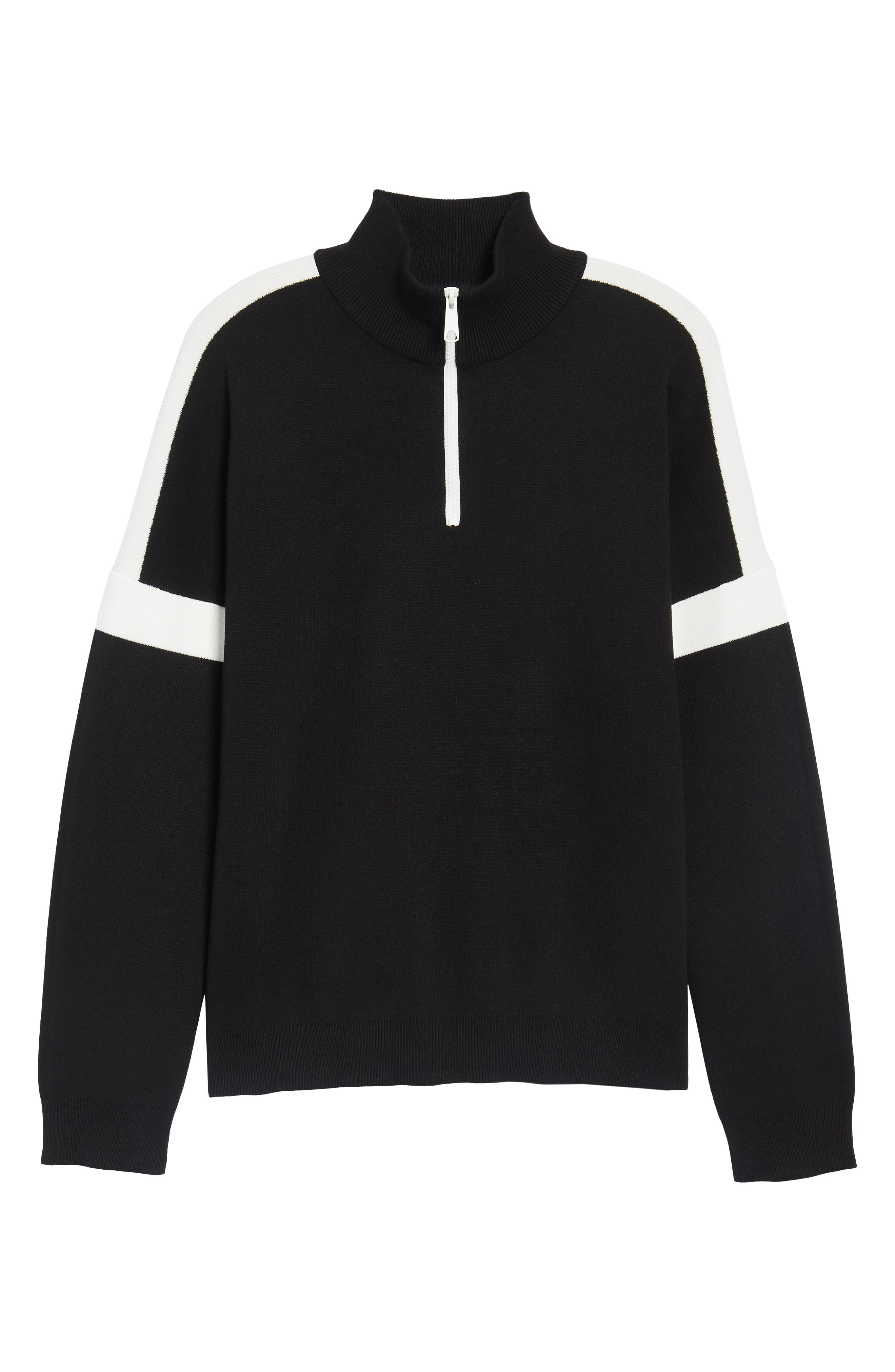 Lakra Regular Fit Half Zip Pullover,                             Alternate thumbnail 6, color,                             Black/Milk/Black