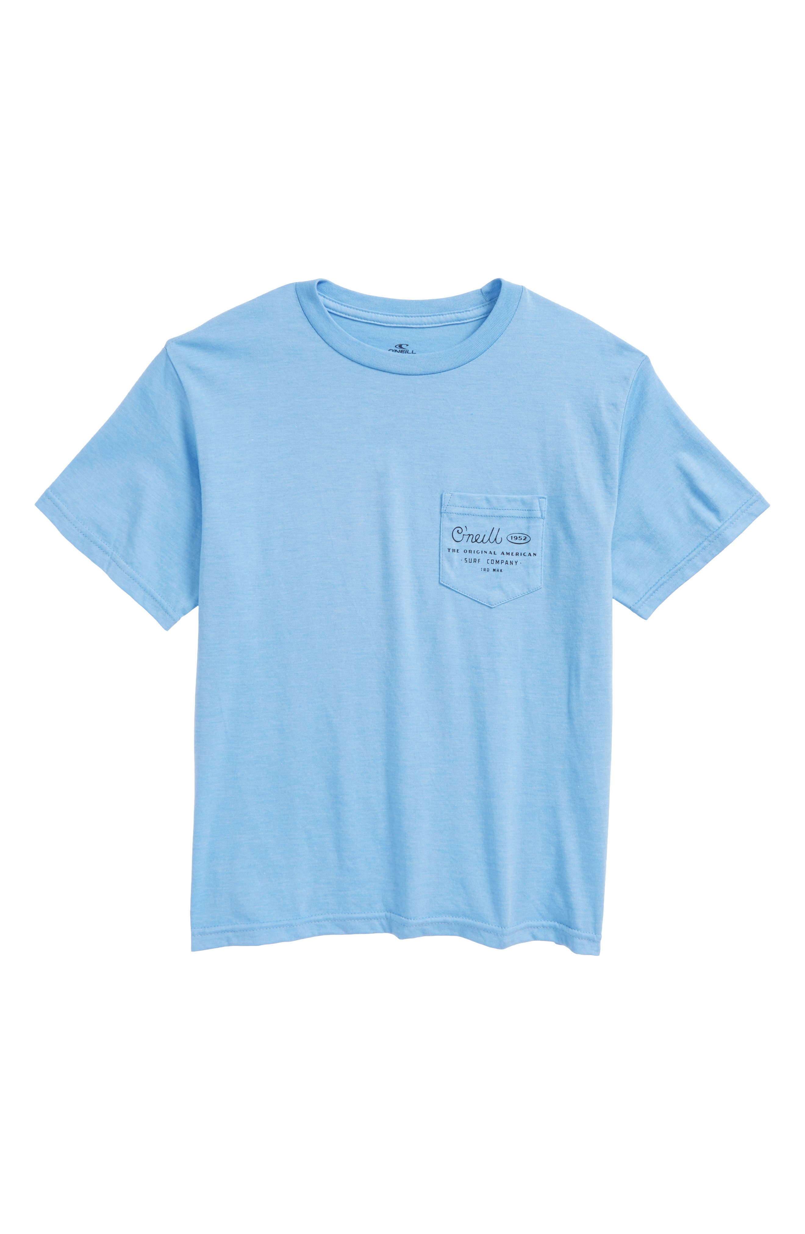 Randolph Pocket T-Shirt,                         Main,                         color, Light Blue Heather