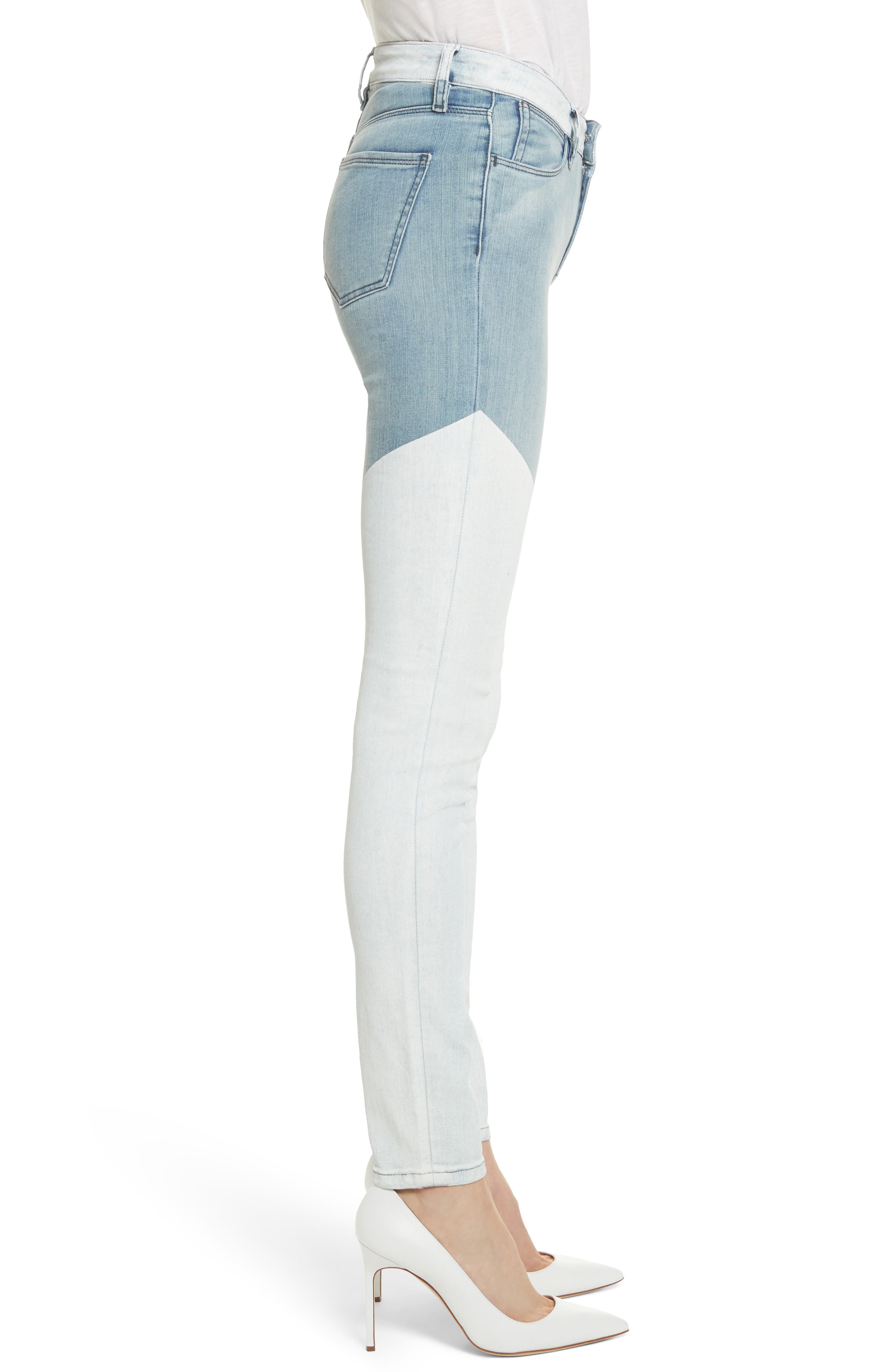Emma Coated Skinny Jeans,                             Alternate thumbnail 3, color,                             Running Blue