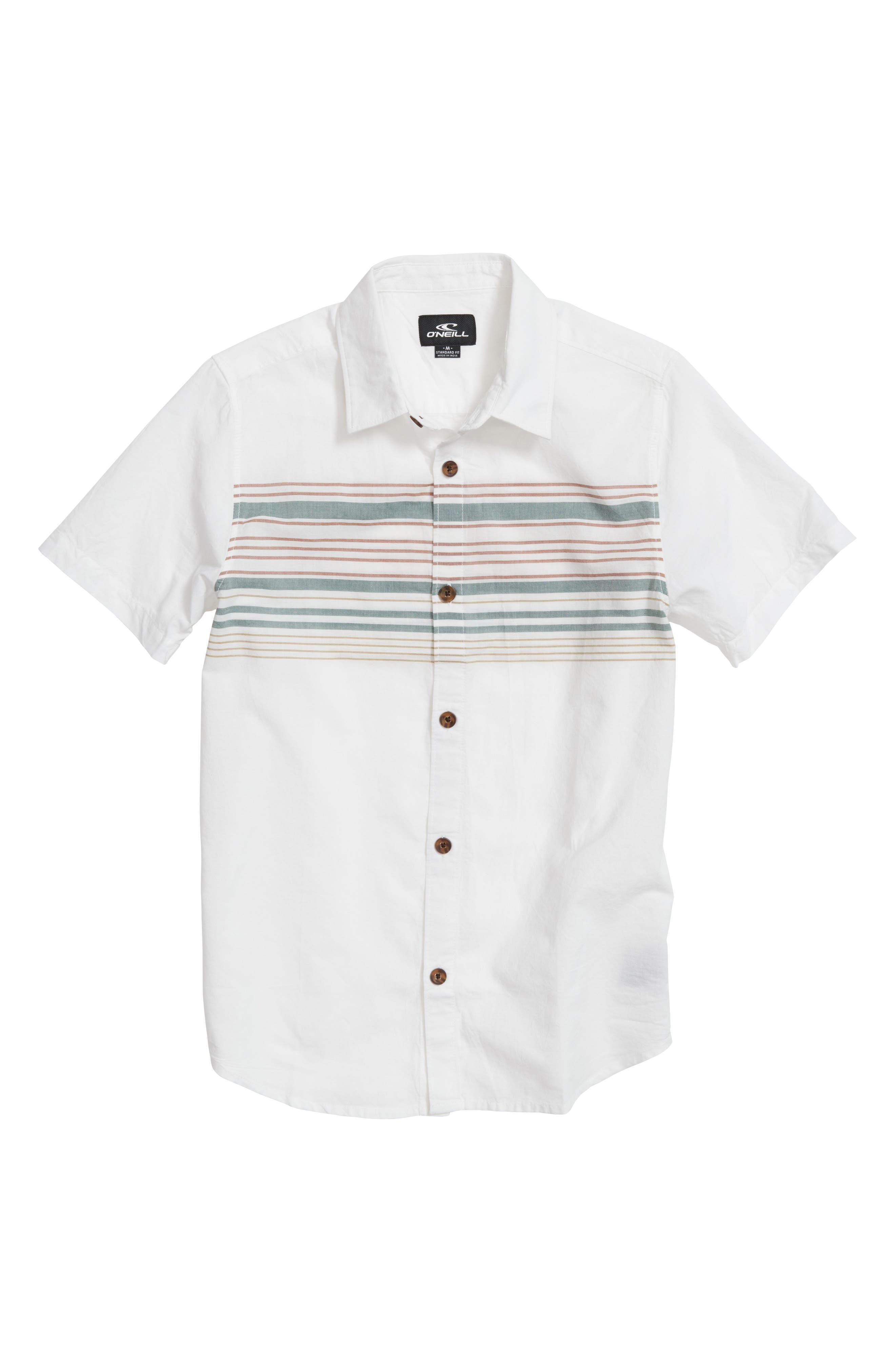 Serf Striped Woven Shirt,                             Main thumbnail 1, color,                             White