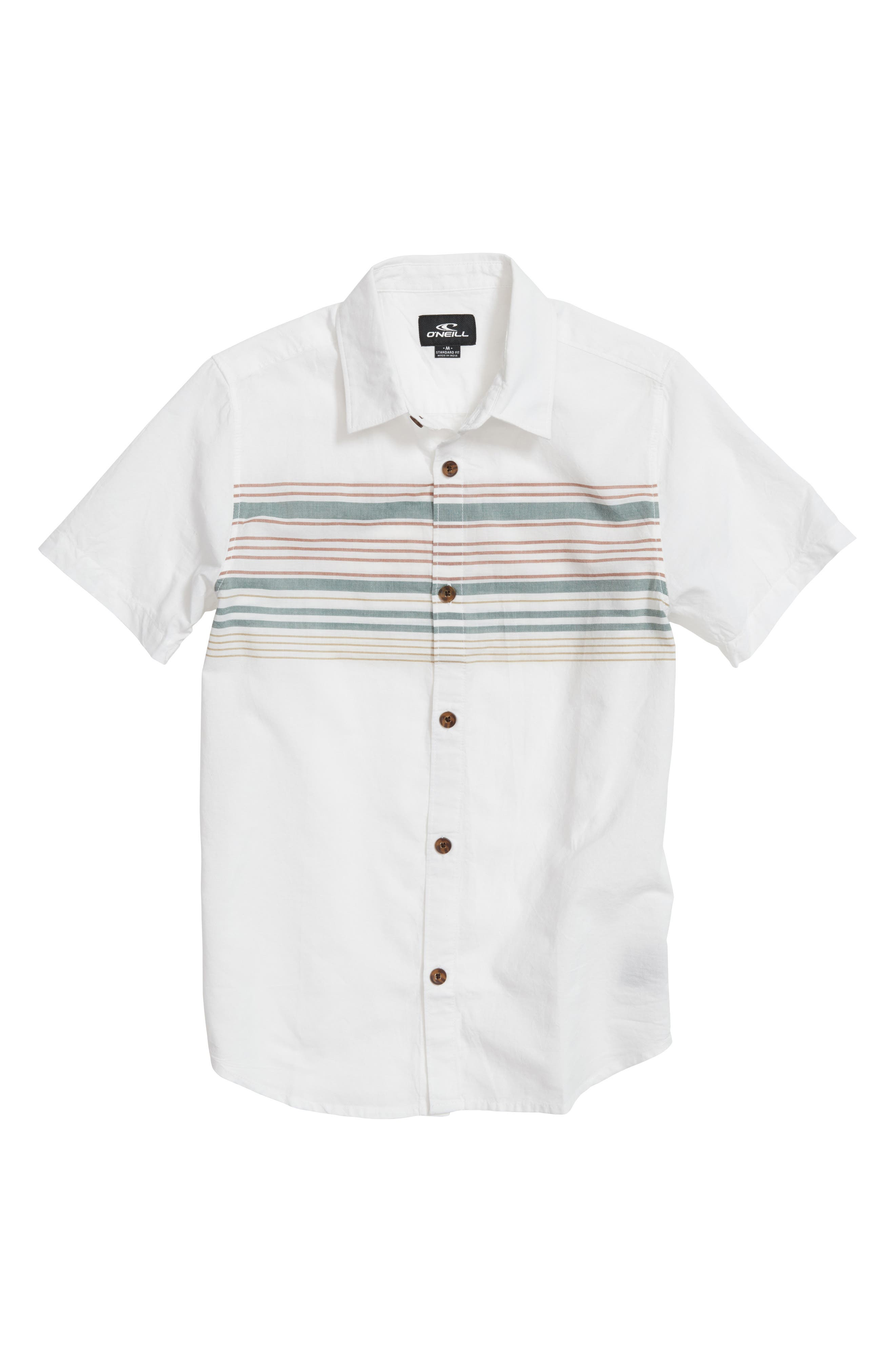 Serf Striped Woven Shirt,                         Main,                         color, White