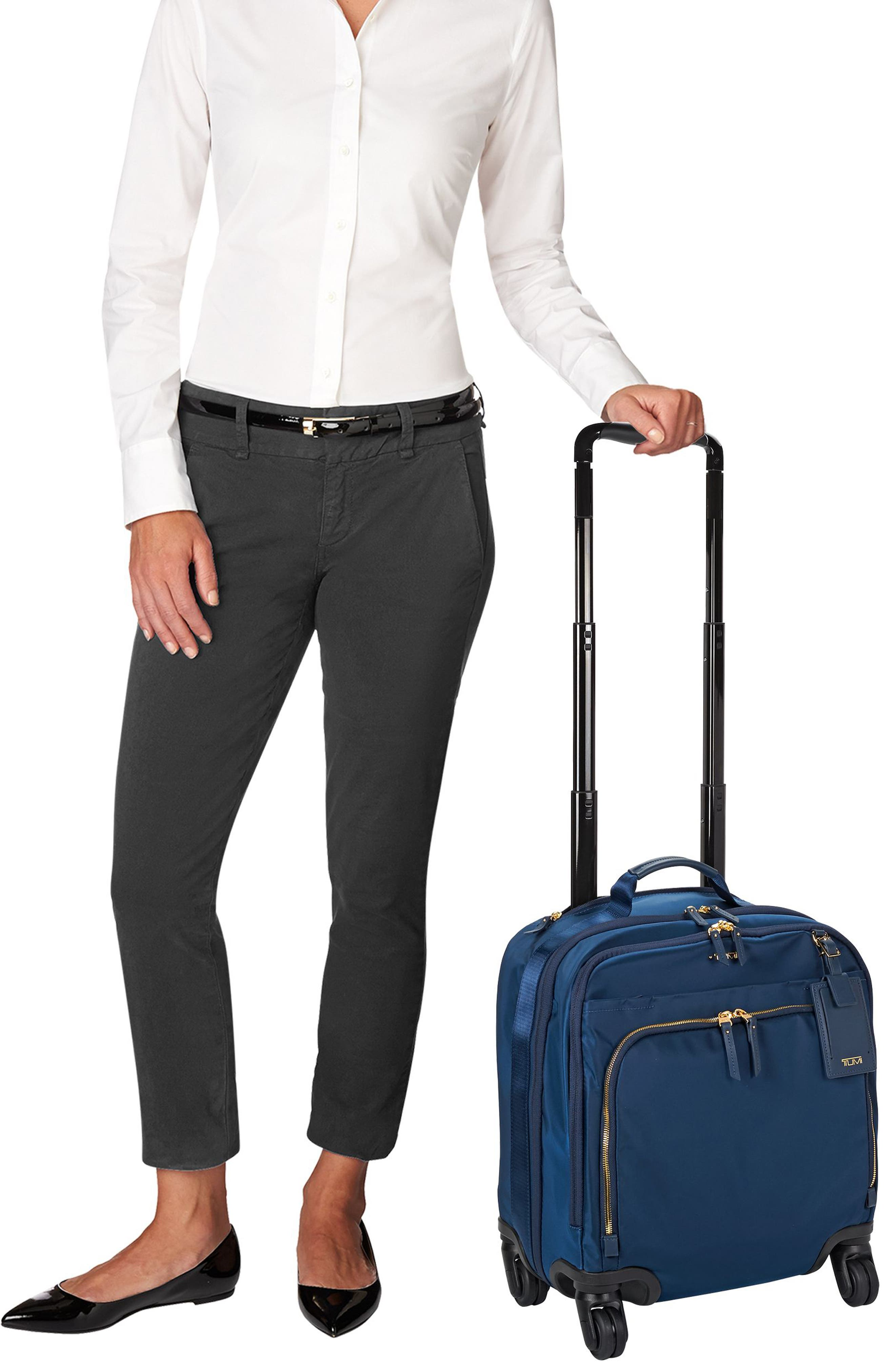 Voyageur - Oslo Compact 15-Inch Wheeled Carry-On,                             Alternate thumbnail 2, color,                             Ocean Blue