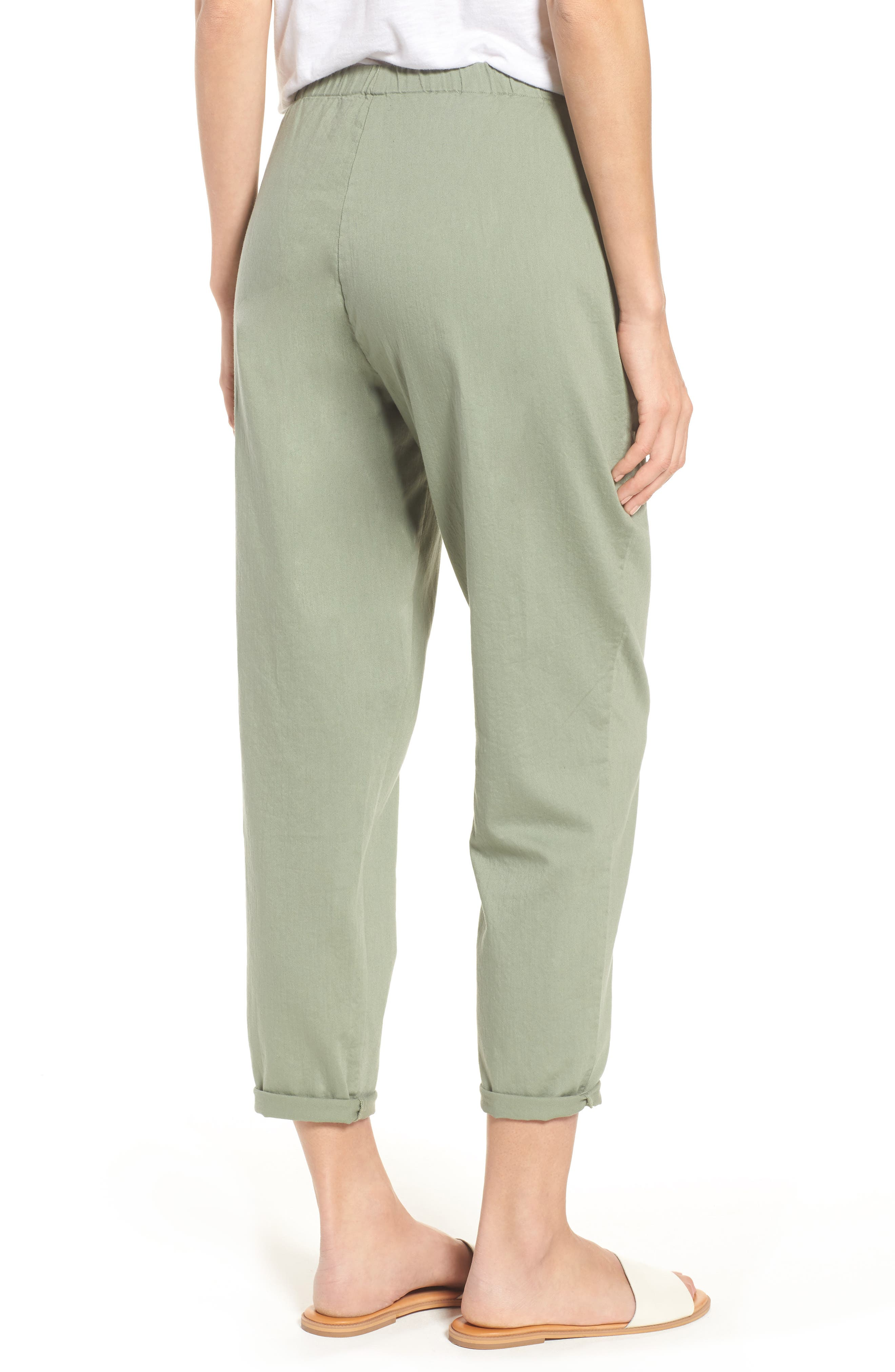 Organic Cotton Tapered Ankle Pants,                             Alternate thumbnail 2, color,                             Glen