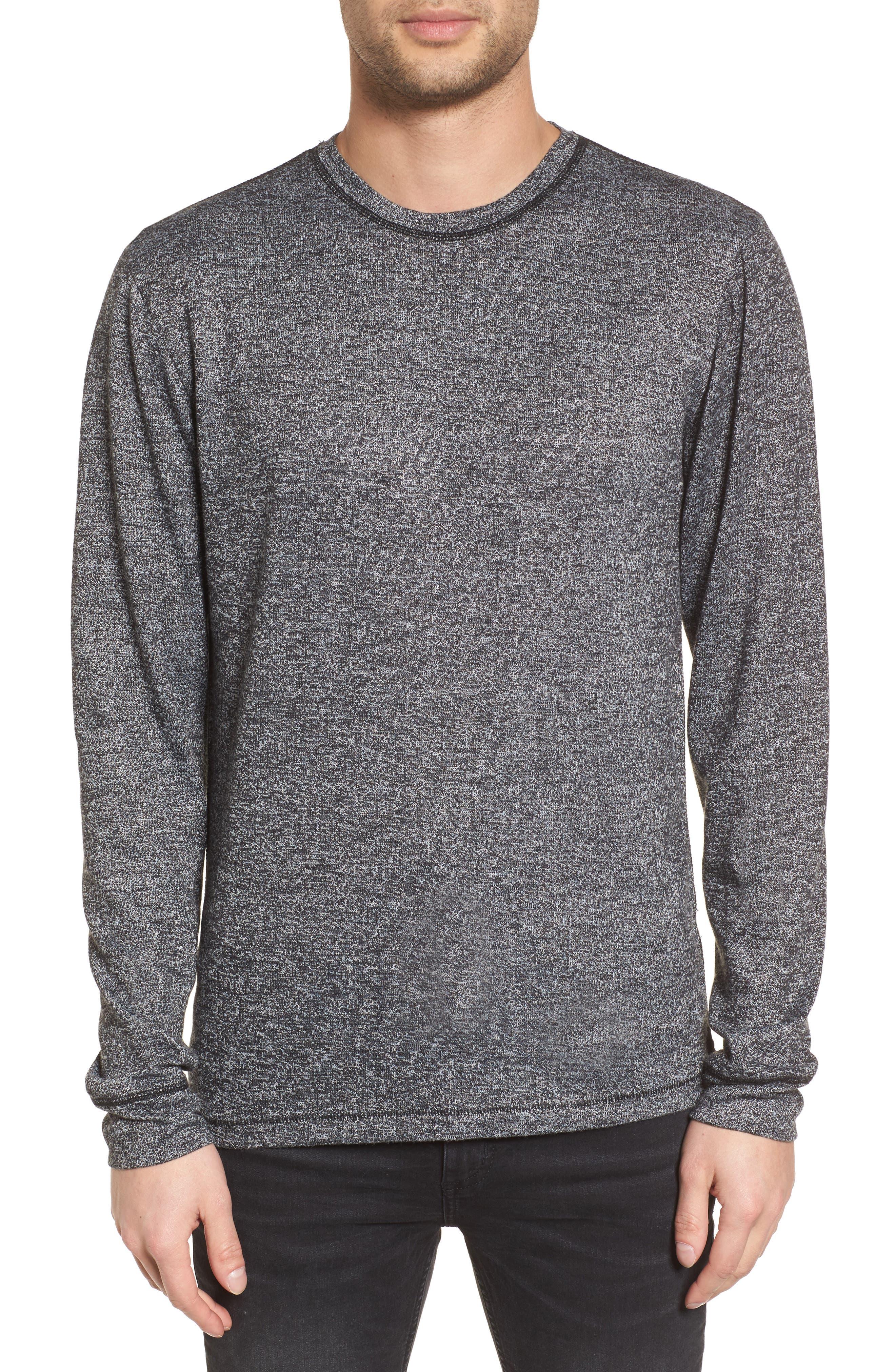 Treasure&Bond Crewneck Sweater,                         Main,                         color, Black Rock