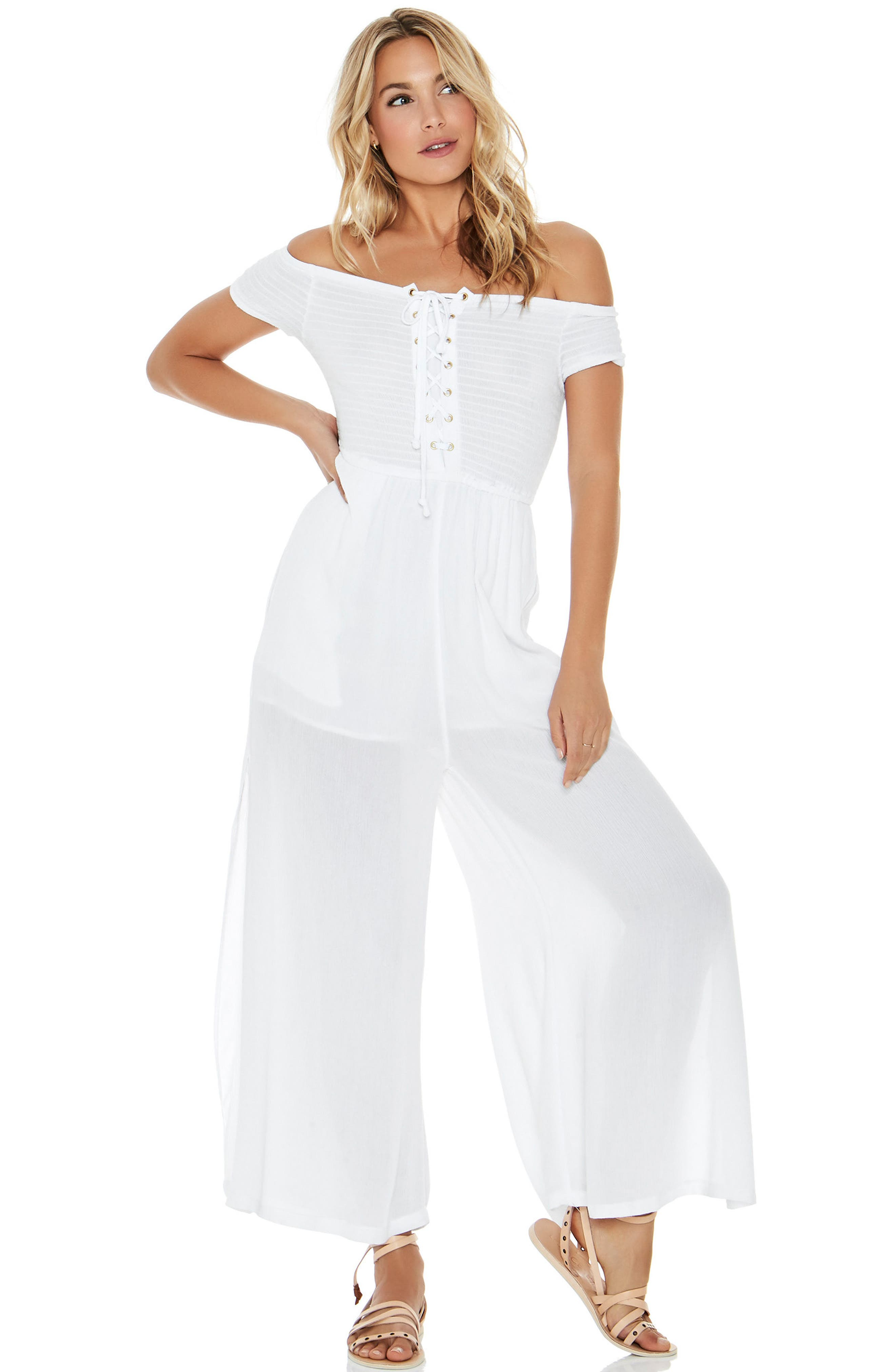 Sao Paulo Cover-Up Jumpsuit,                             Alternate thumbnail 3, color,                             White