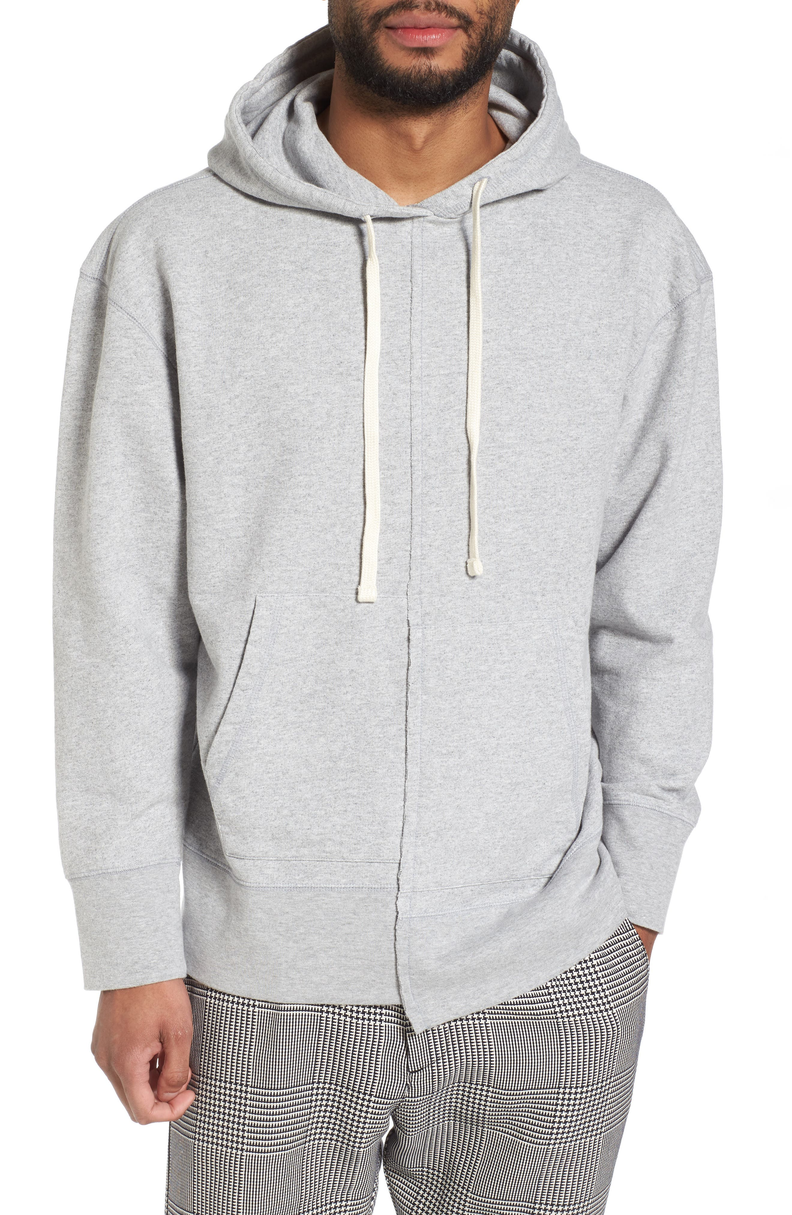 Spliced Hoodie,                             Main thumbnail 1, color,                             Grey Heather