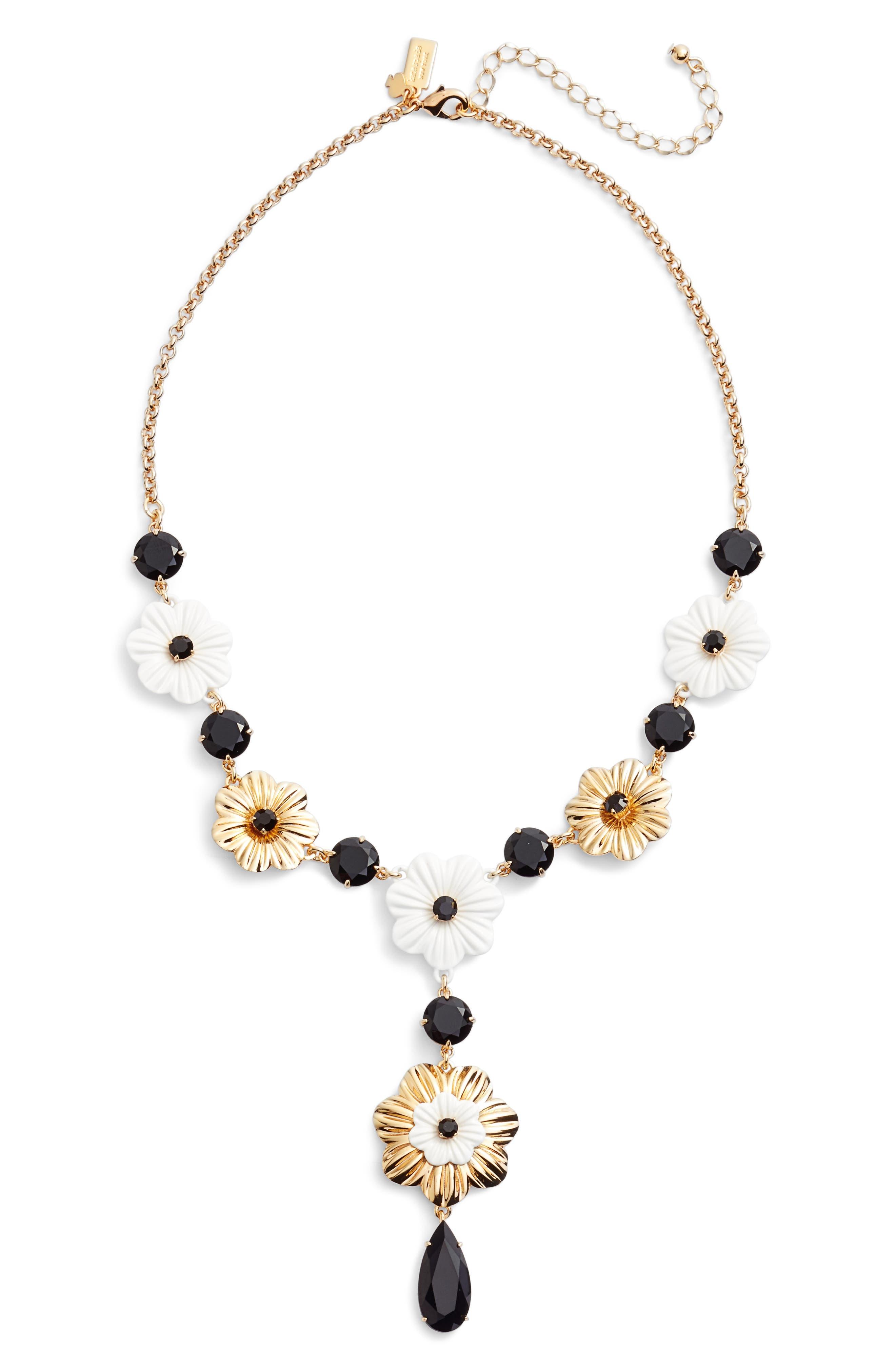 posy grove pendant necklace,                         Main,                         color, Neutral Multi