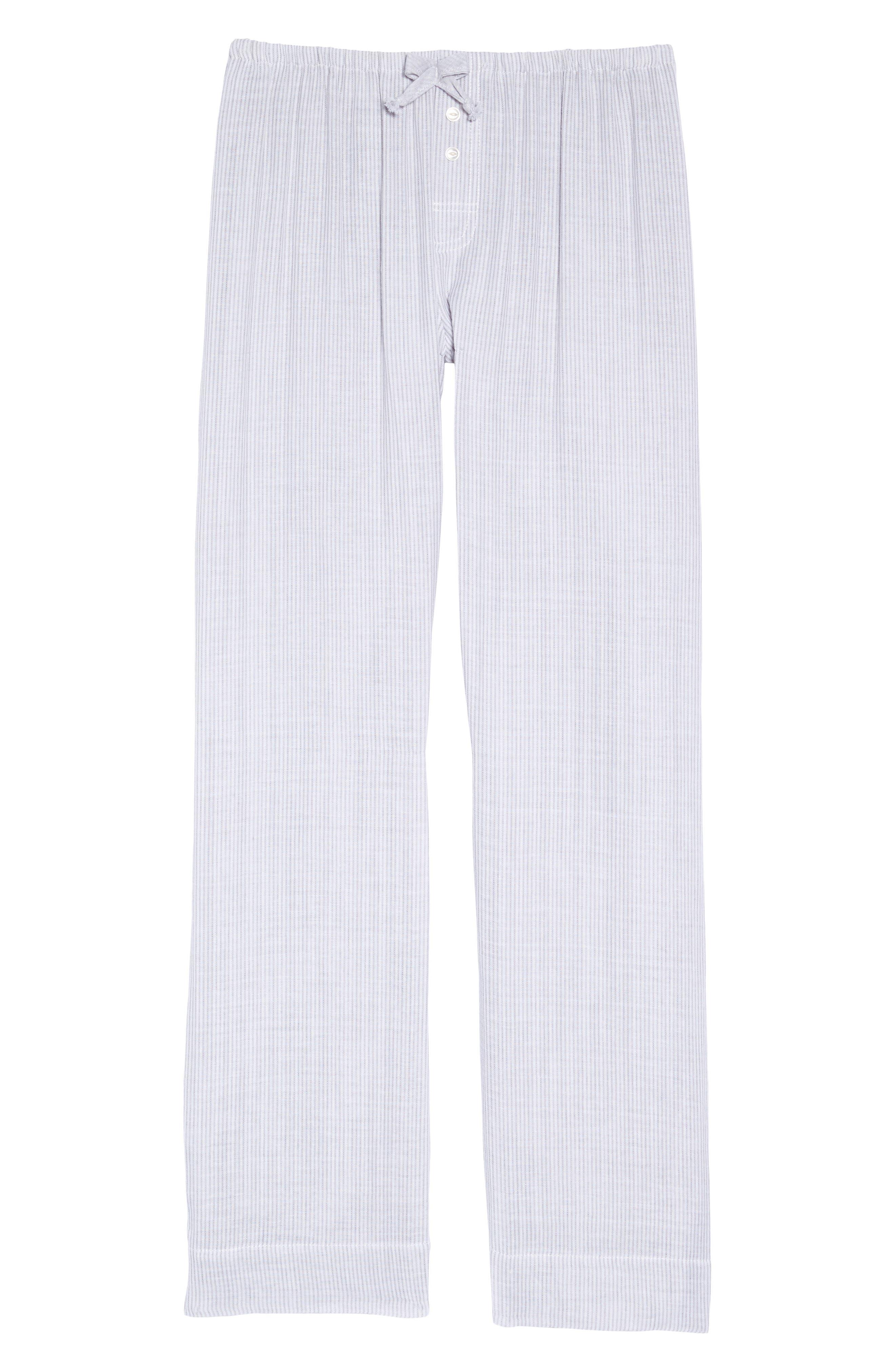 Stripe Pajama Pants,                             Alternate thumbnail 4, color,                             Grey/ White