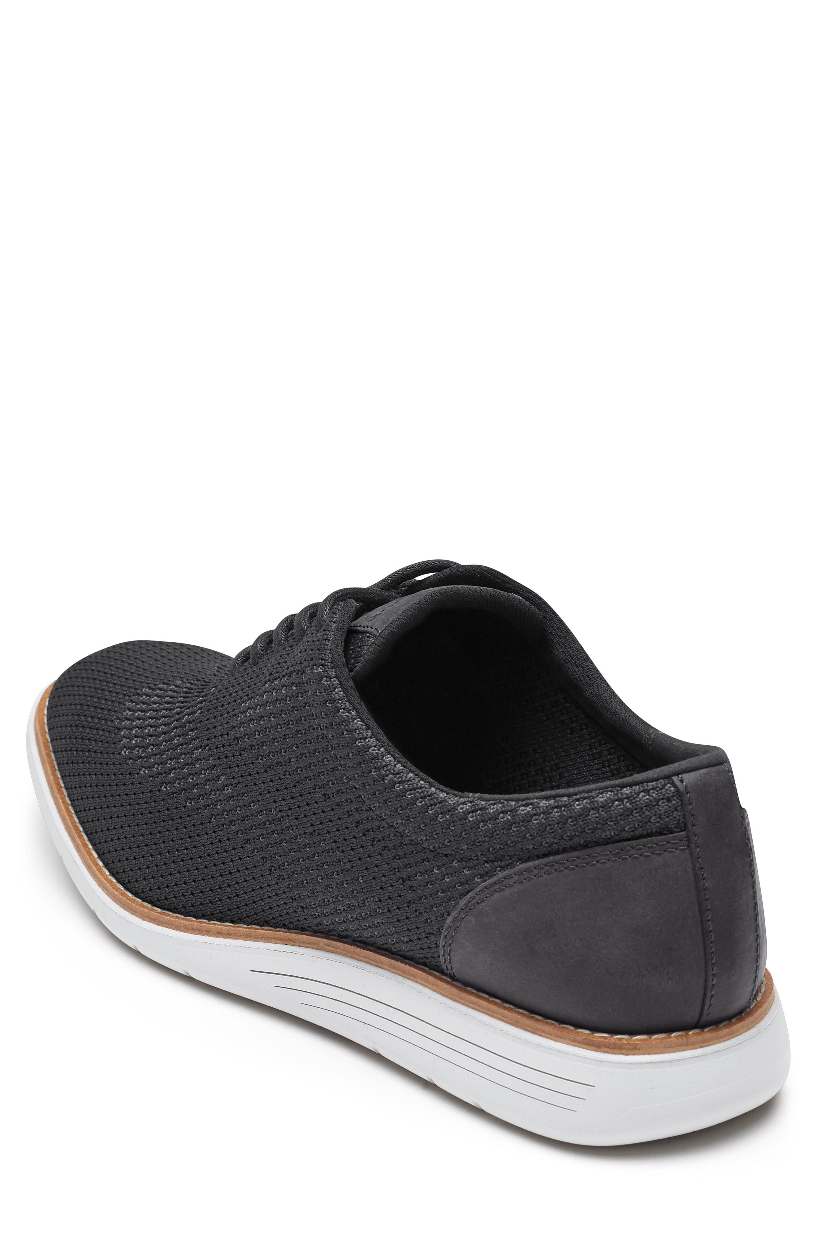 Total Motion Sport Oxford,                             Alternate thumbnail 2, color,                             Black Leather