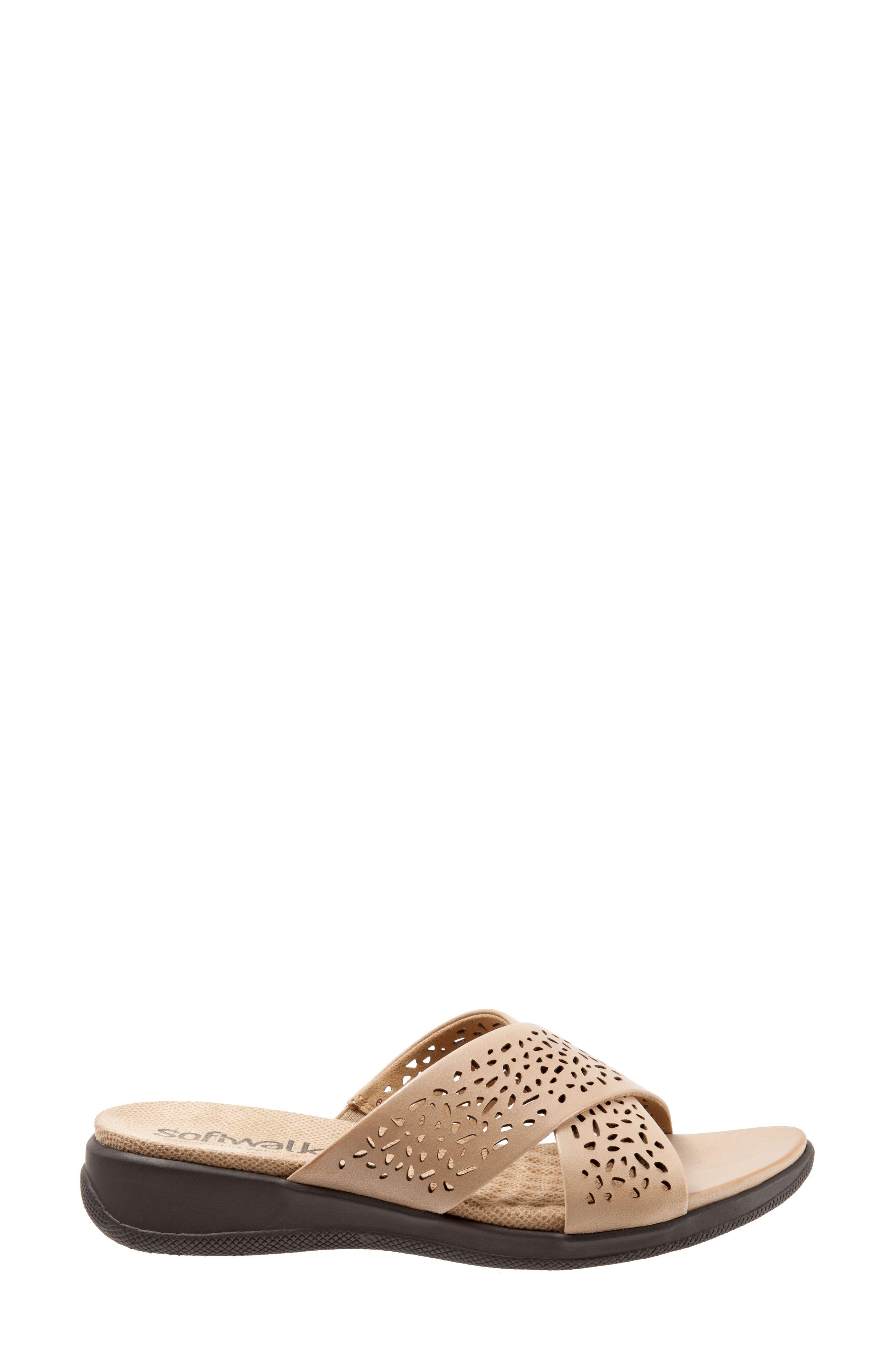 Alternate Image 3  - SoftWalk® 'Tillman' Leather Cross Strap Slide Sandal (Women)