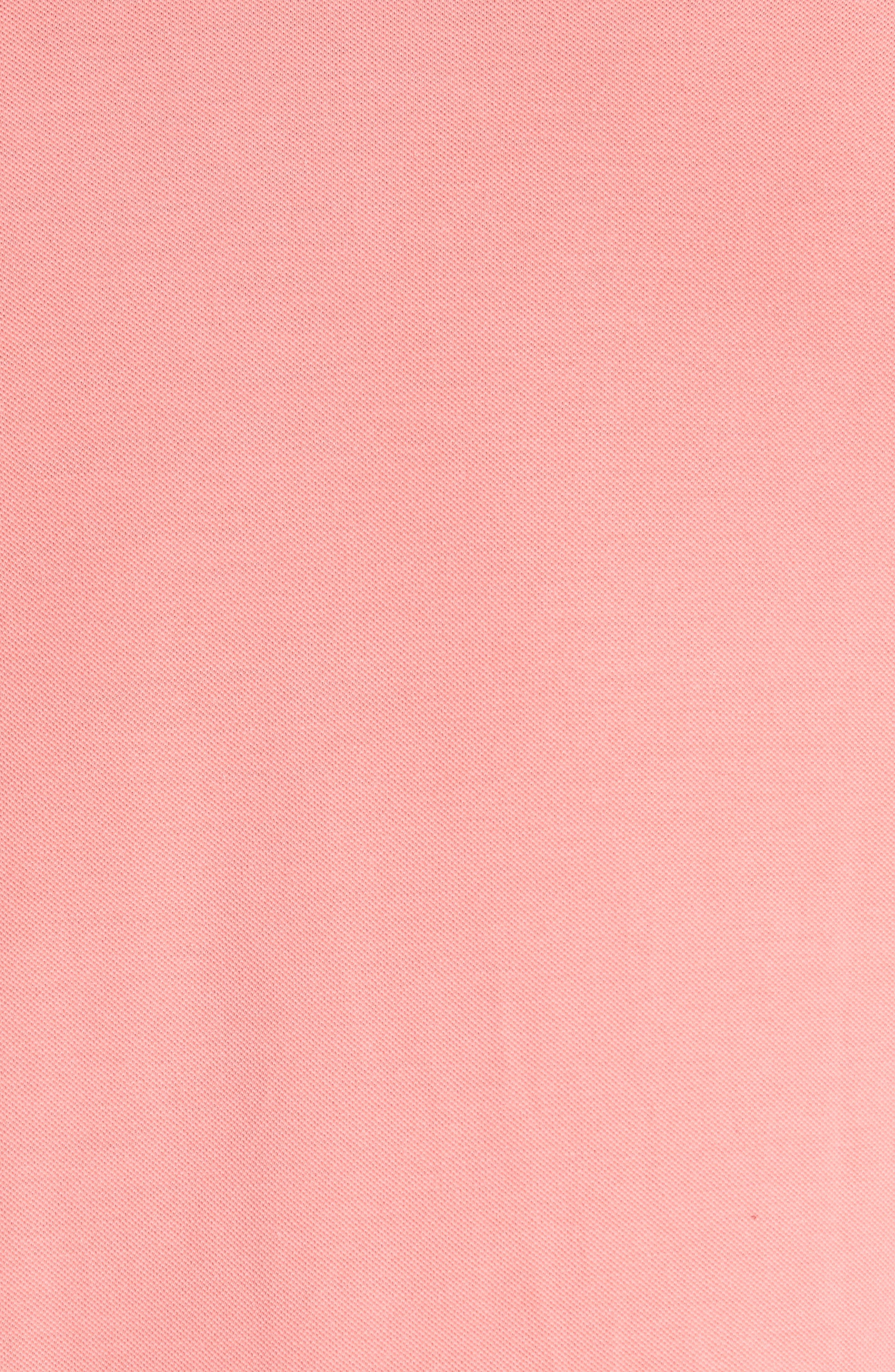 Tipped Polo,                             Alternate thumbnail 5, color,                             Pink 1