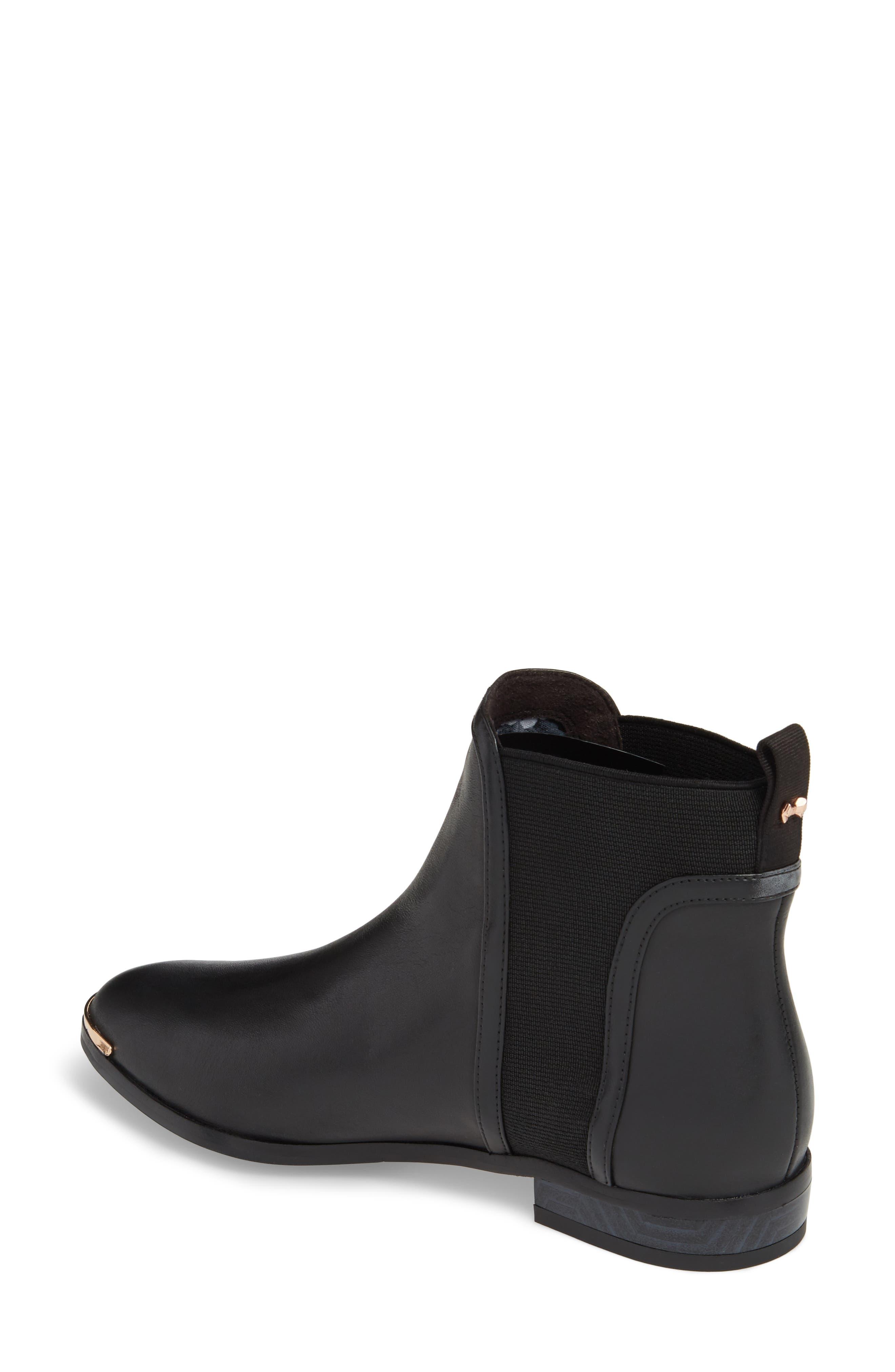 Kerei Chelsea Boot,                             Alternate thumbnail 2, color,                             Black Leather