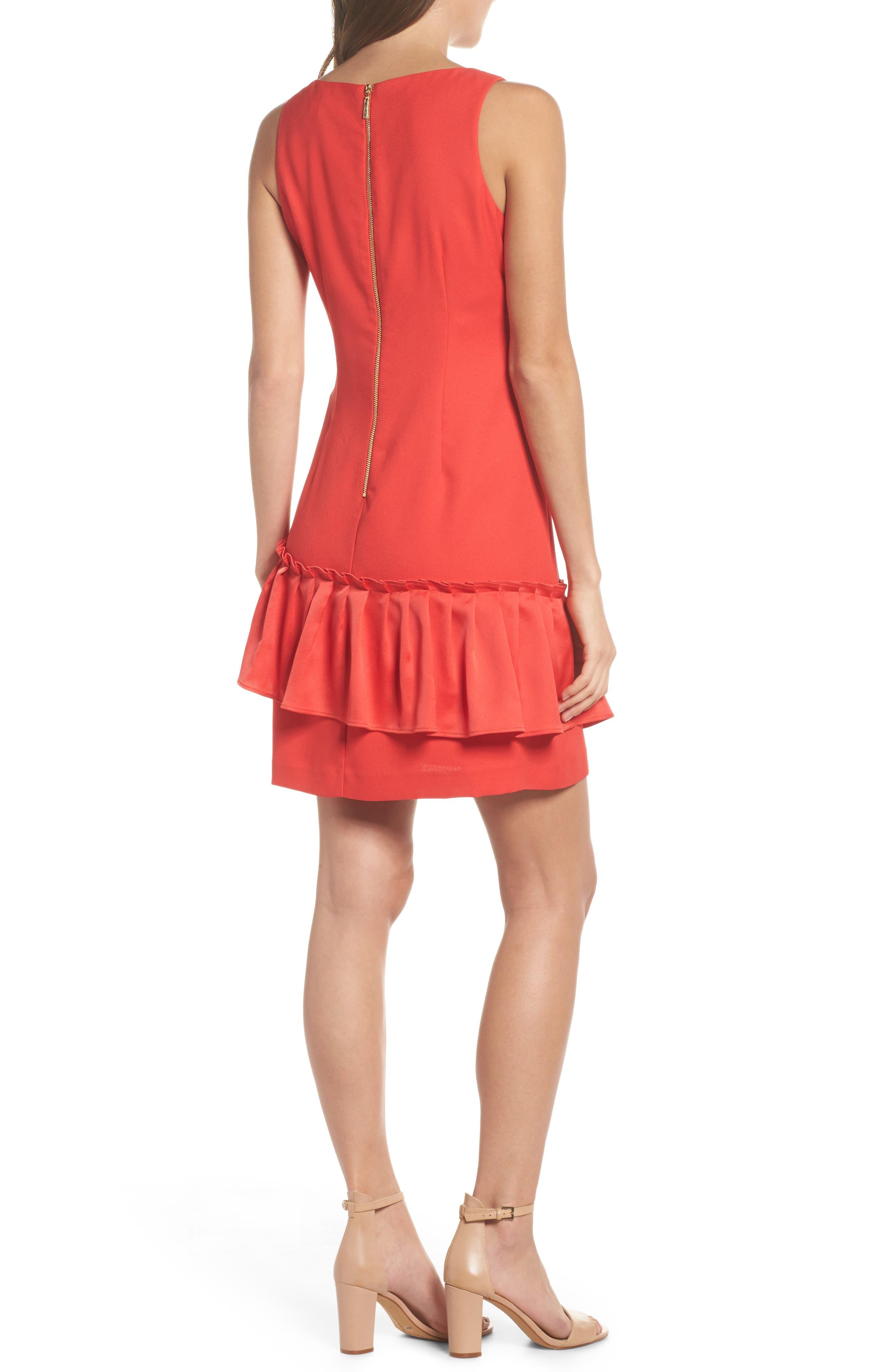 Alternate Image 2  - Eliza J Ruffle Hem Sheath Dress