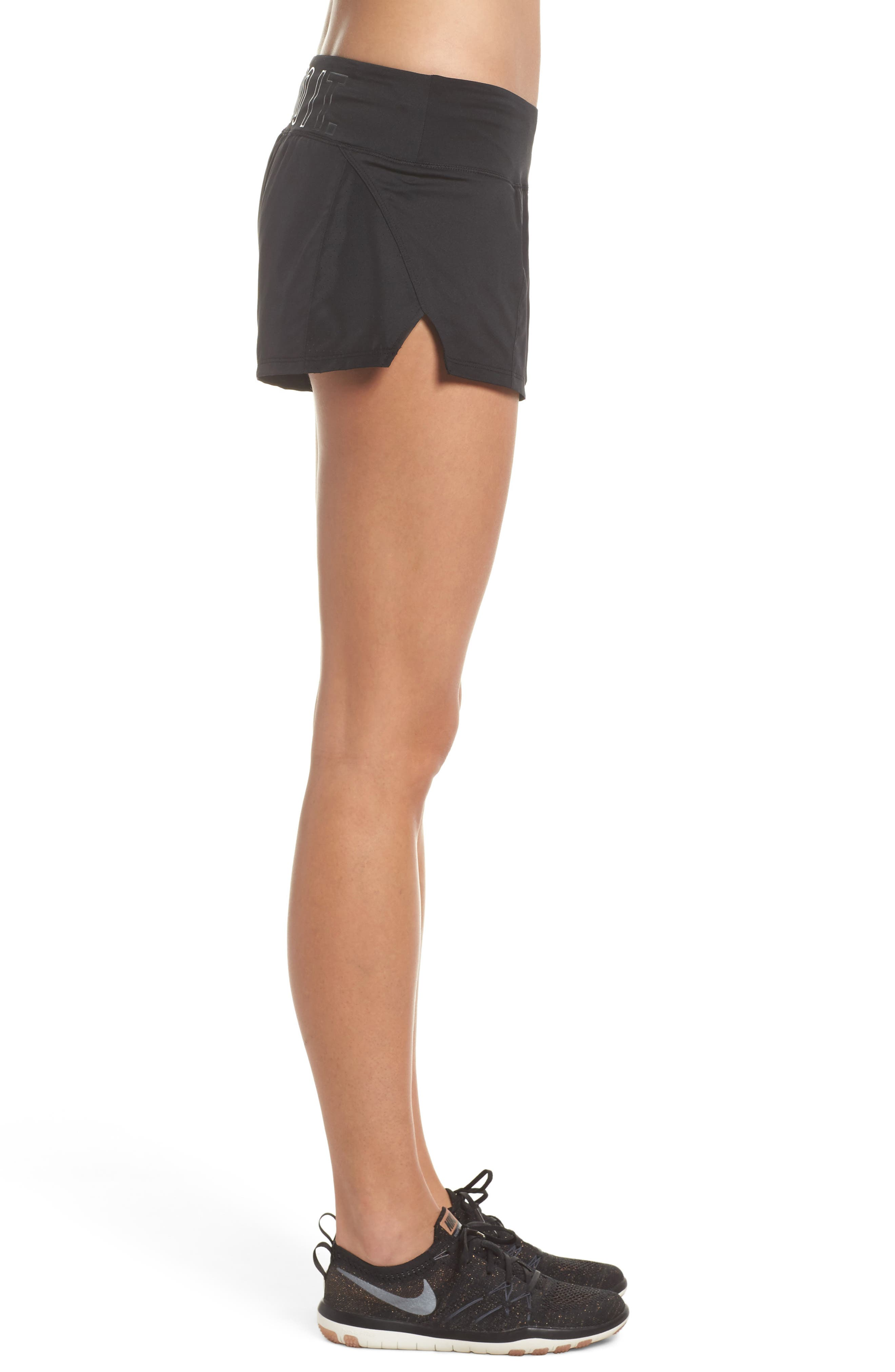 Dry Crew Running Shorts,                             Alternate thumbnail 3, color,                             Black/ Anthracite
