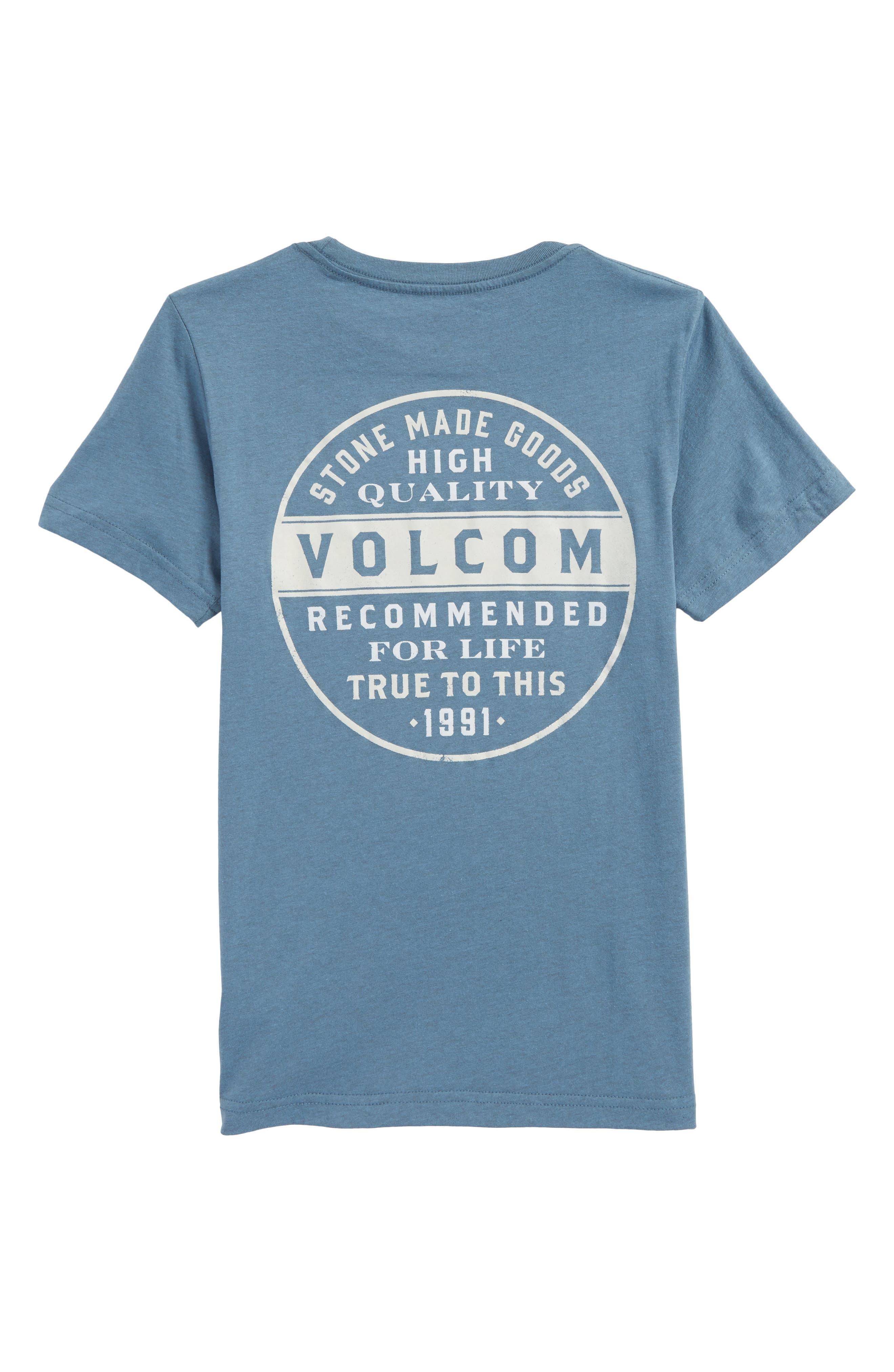 Barred Logo Graphic T-Shirt,                             Alternate thumbnail 2, color,                             Wrecked Indigo