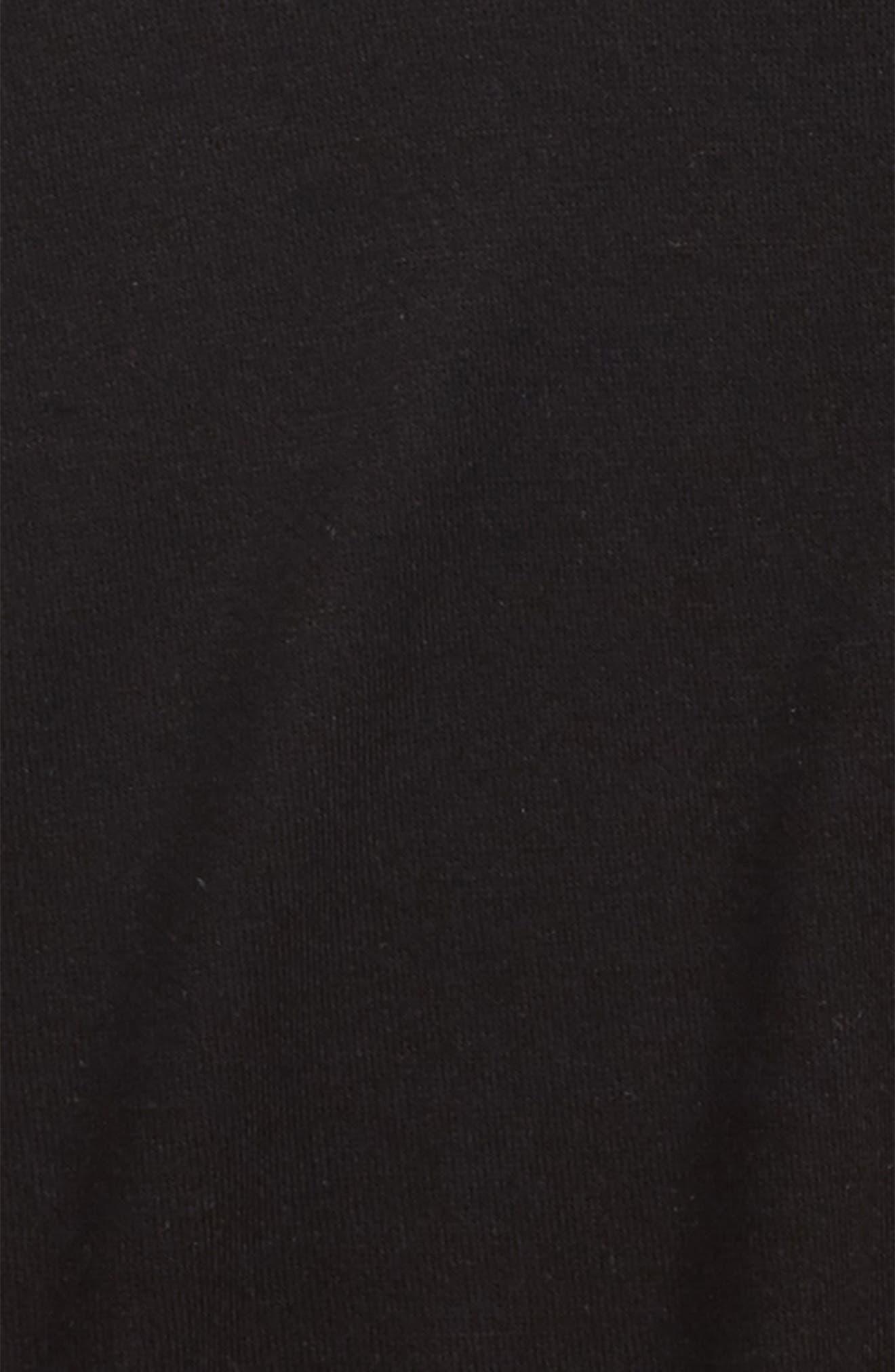 Ruffle Side Sweatshirt,                             Alternate thumbnail 2, color,                             Black-Black-Solid