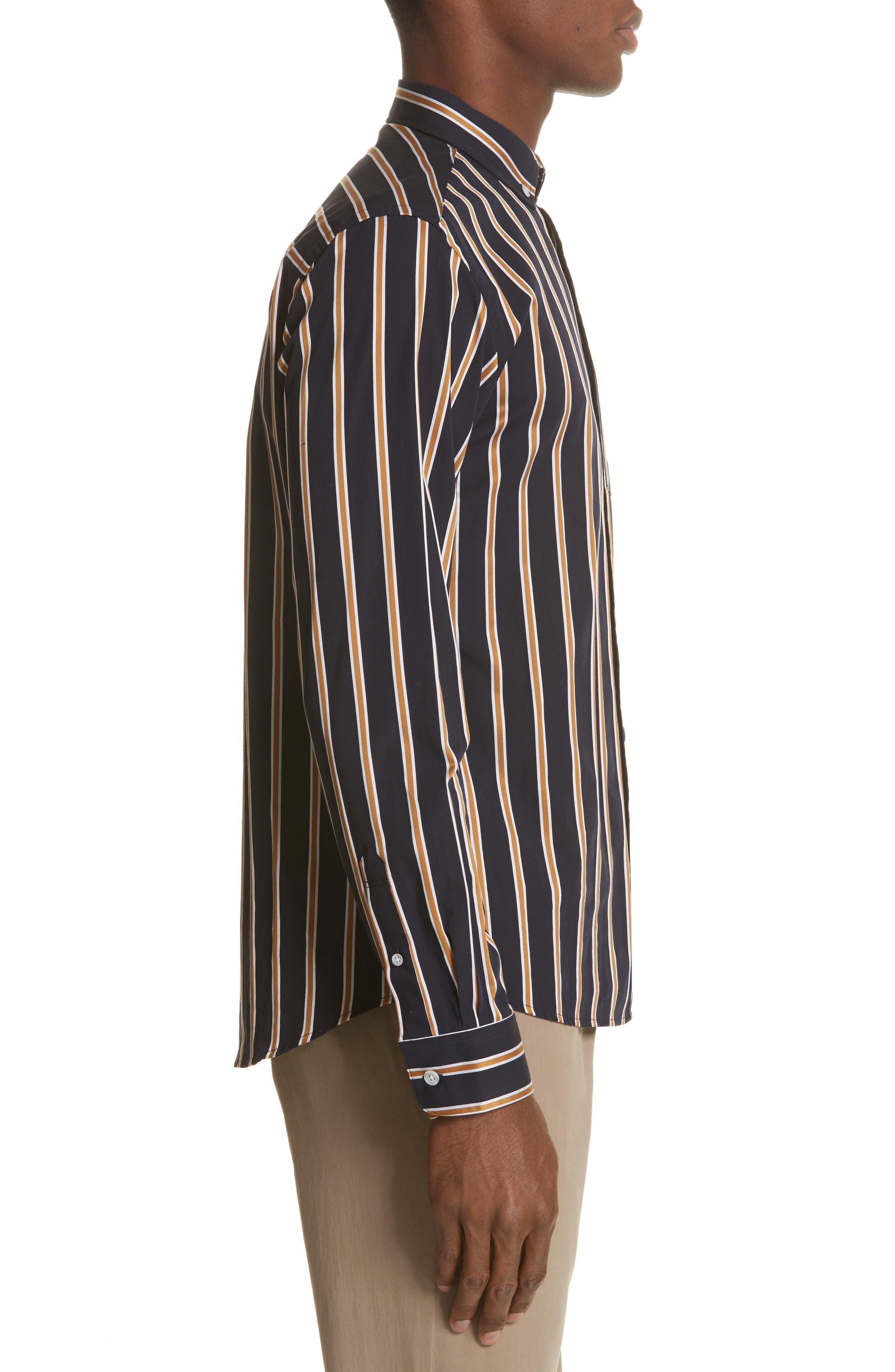 Alternate Image 3  - Saturdays NYC Crosby Satin Stripe Shirt