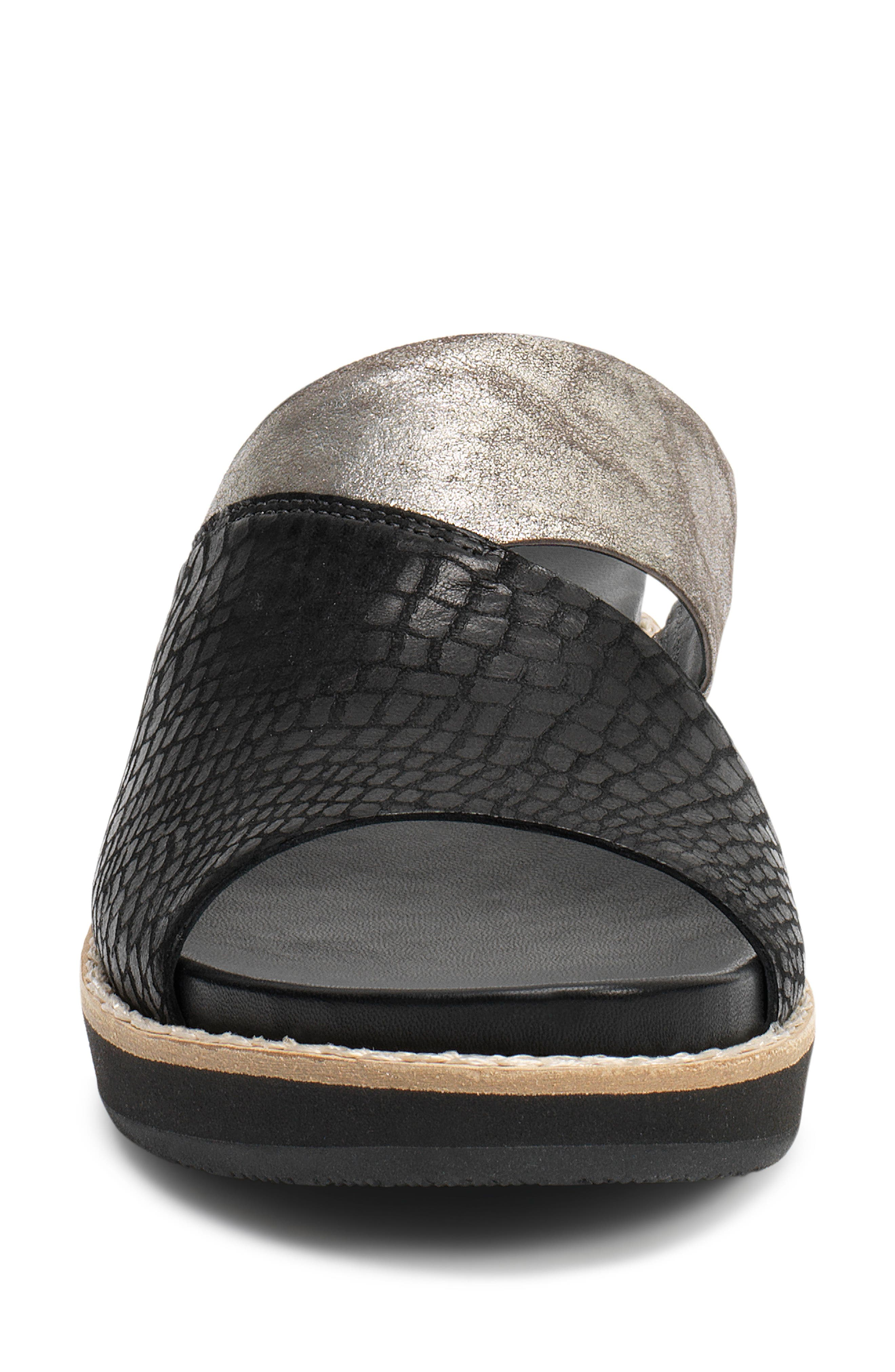 Codi Sandal,                             Alternate thumbnail 4, color,                             Black Embossed Leather
