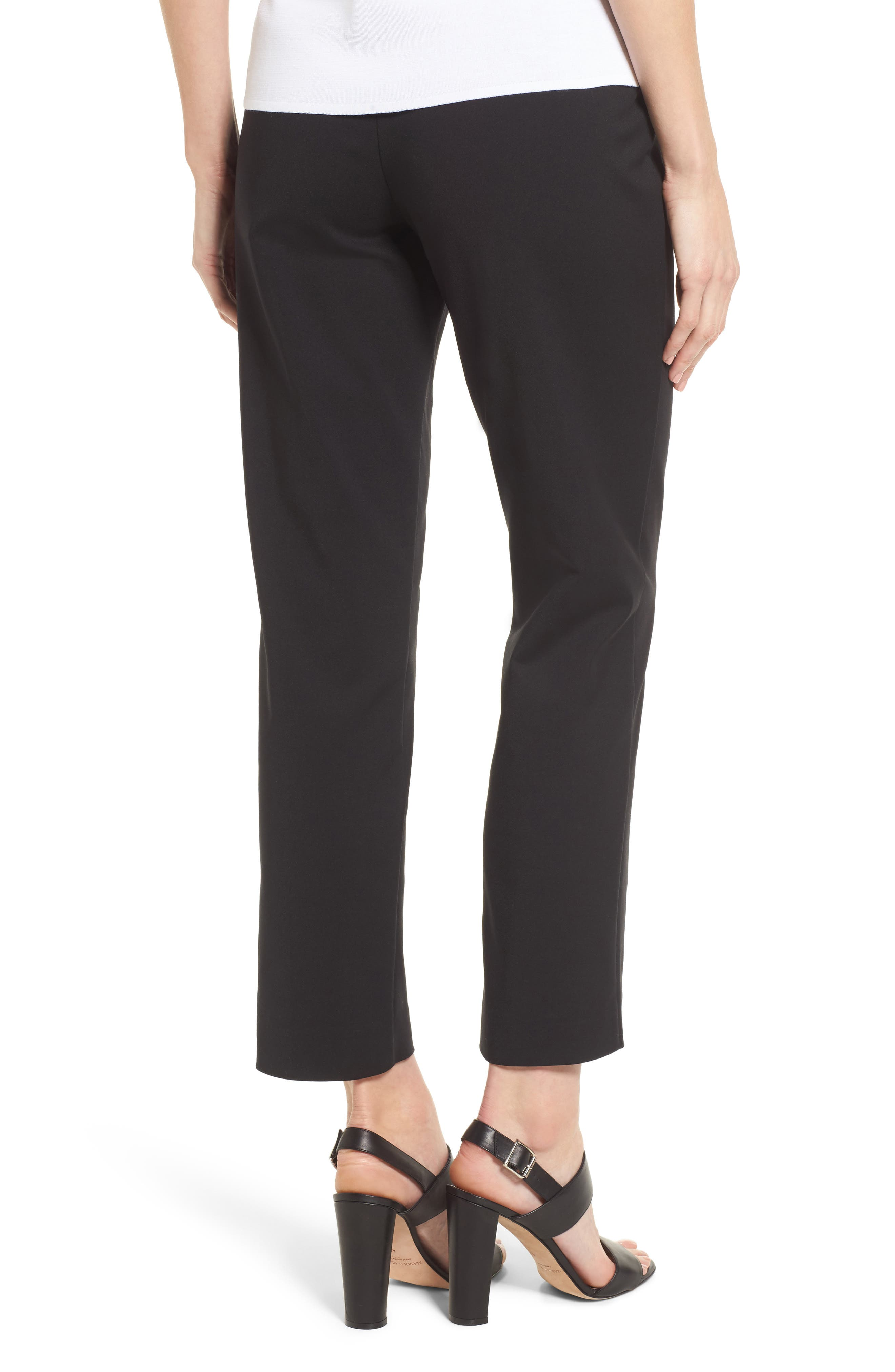 Ming Want Pull-On Ankle Pants,                             Alternate thumbnail 2, color,                             Black