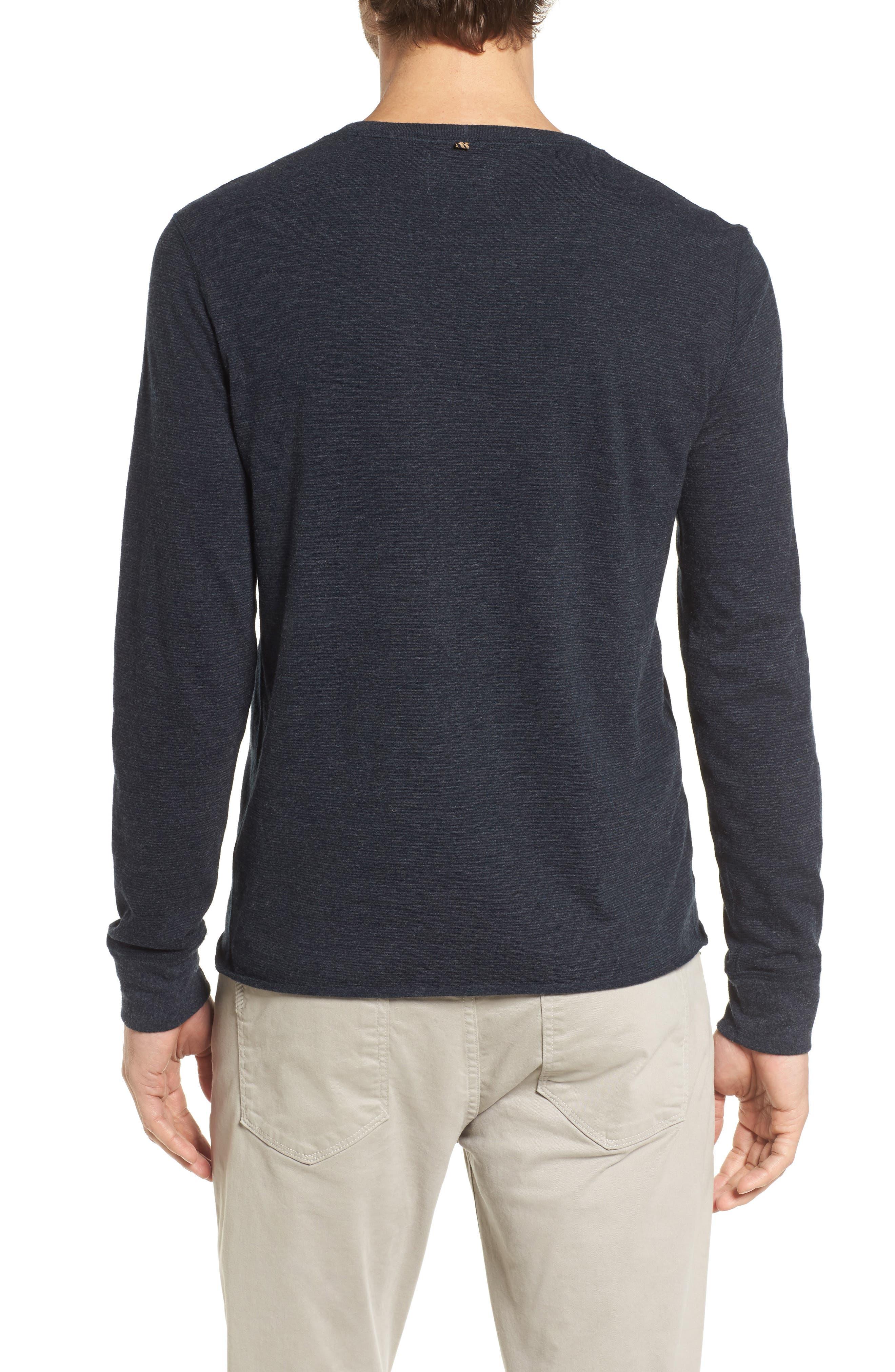 Dylan Stripe T-Shirt,                             Alternate thumbnail 2, color,                             Carbon Blue