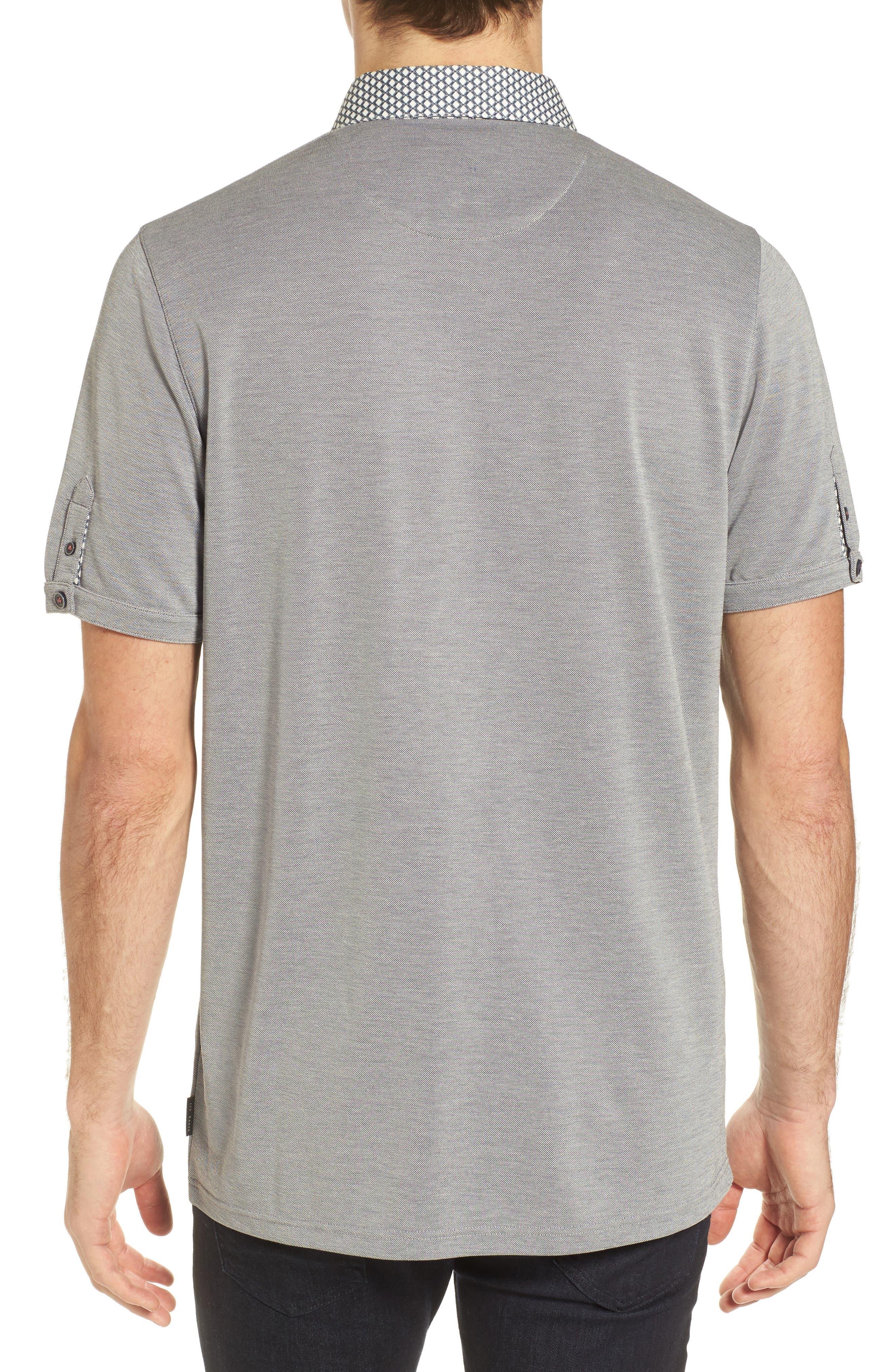 Tizu Trim Fit Polo Shirt,                             Alternate thumbnail 2, color,                             Navy