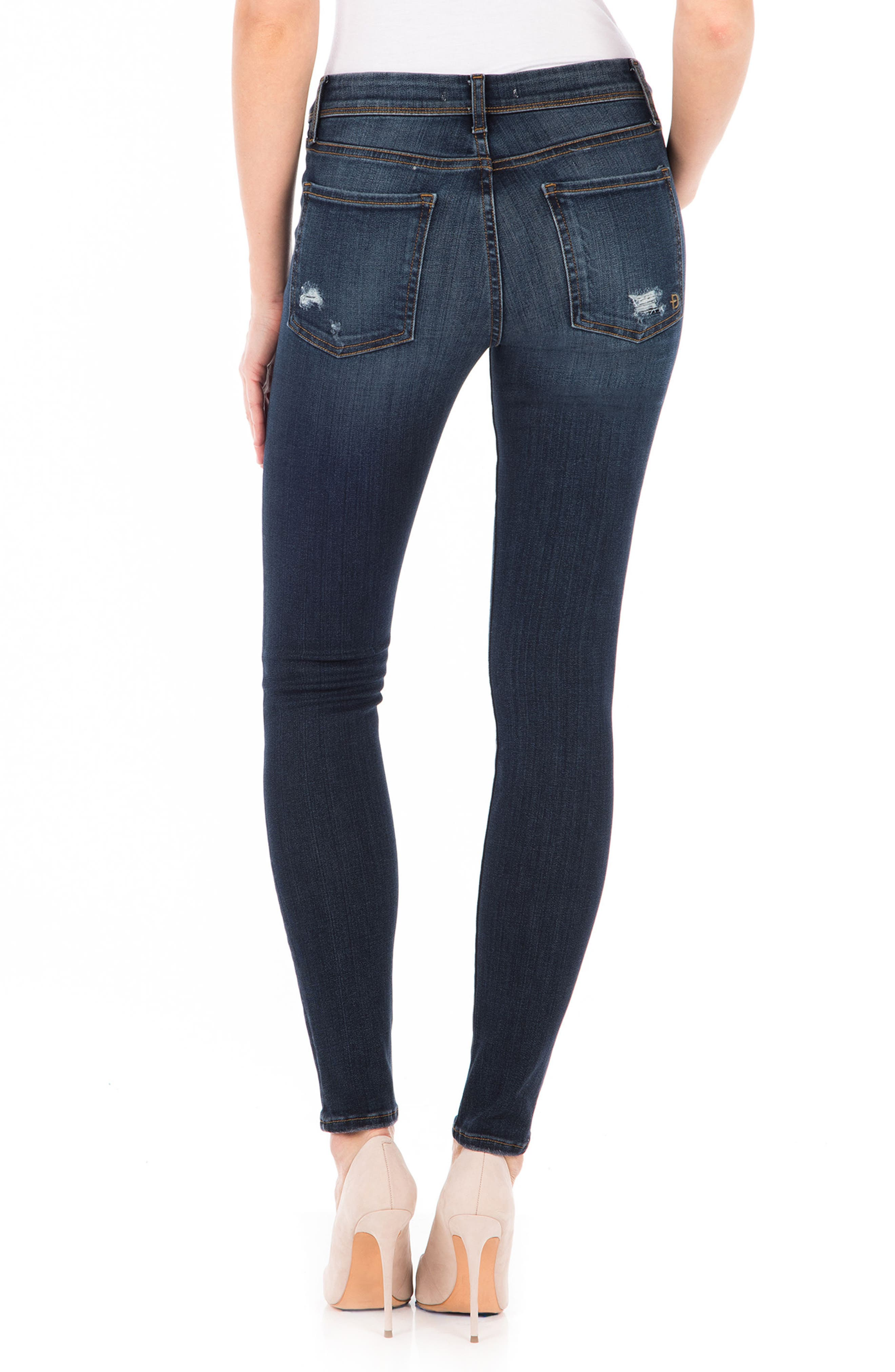 Belvedere Skinny Jeans,                             Alternate thumbnail 2, color,                             Refinery Blue