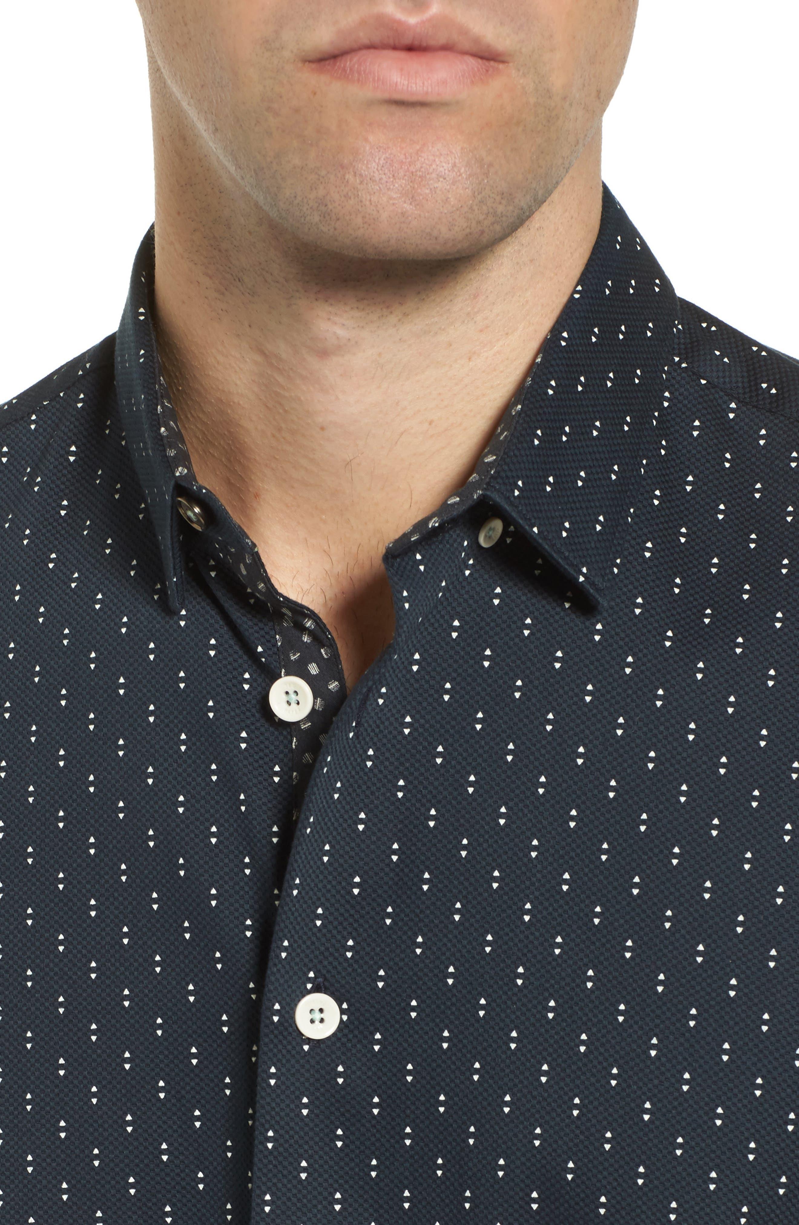 Franko Print Sport Shirt,                             Alternate thumbnail 2, color,                             Navy