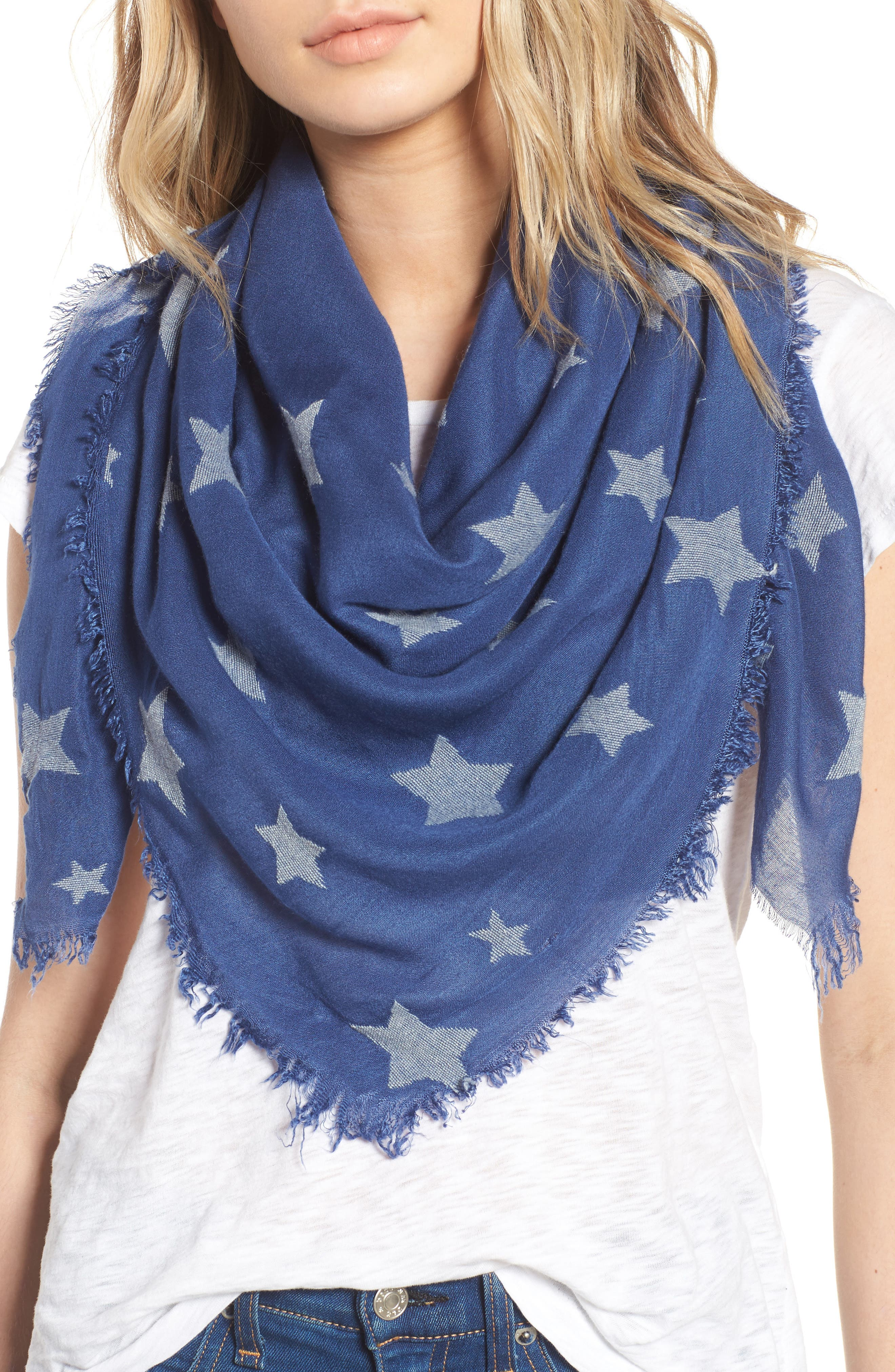 Star Scarf,                             Main thumbnail 1, color,                             Blue Multi