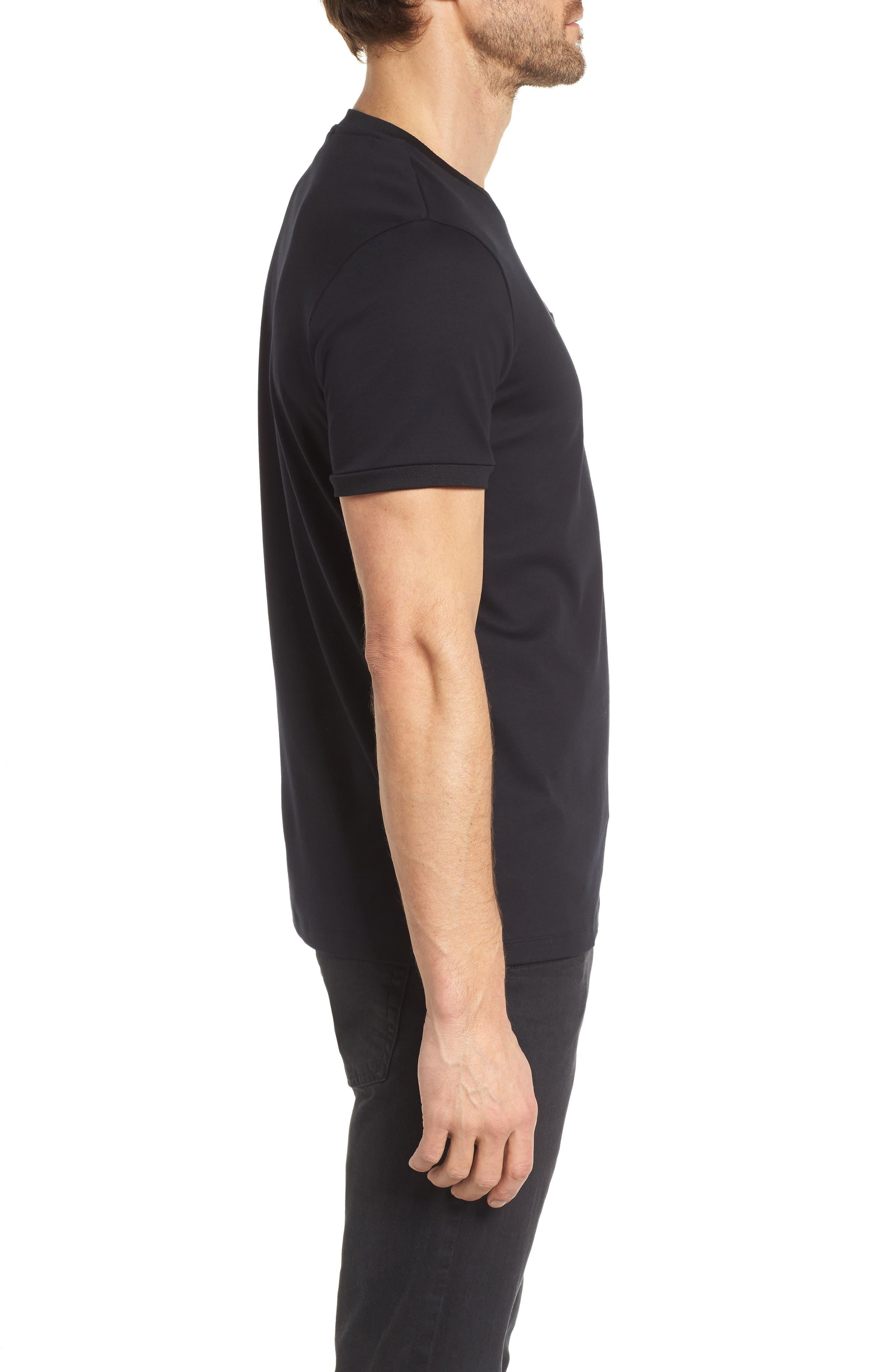 Tessler Mercedes Slim Fit Crewneck T-Shirt,                             Alternate thumbnail 3, color,                             Black