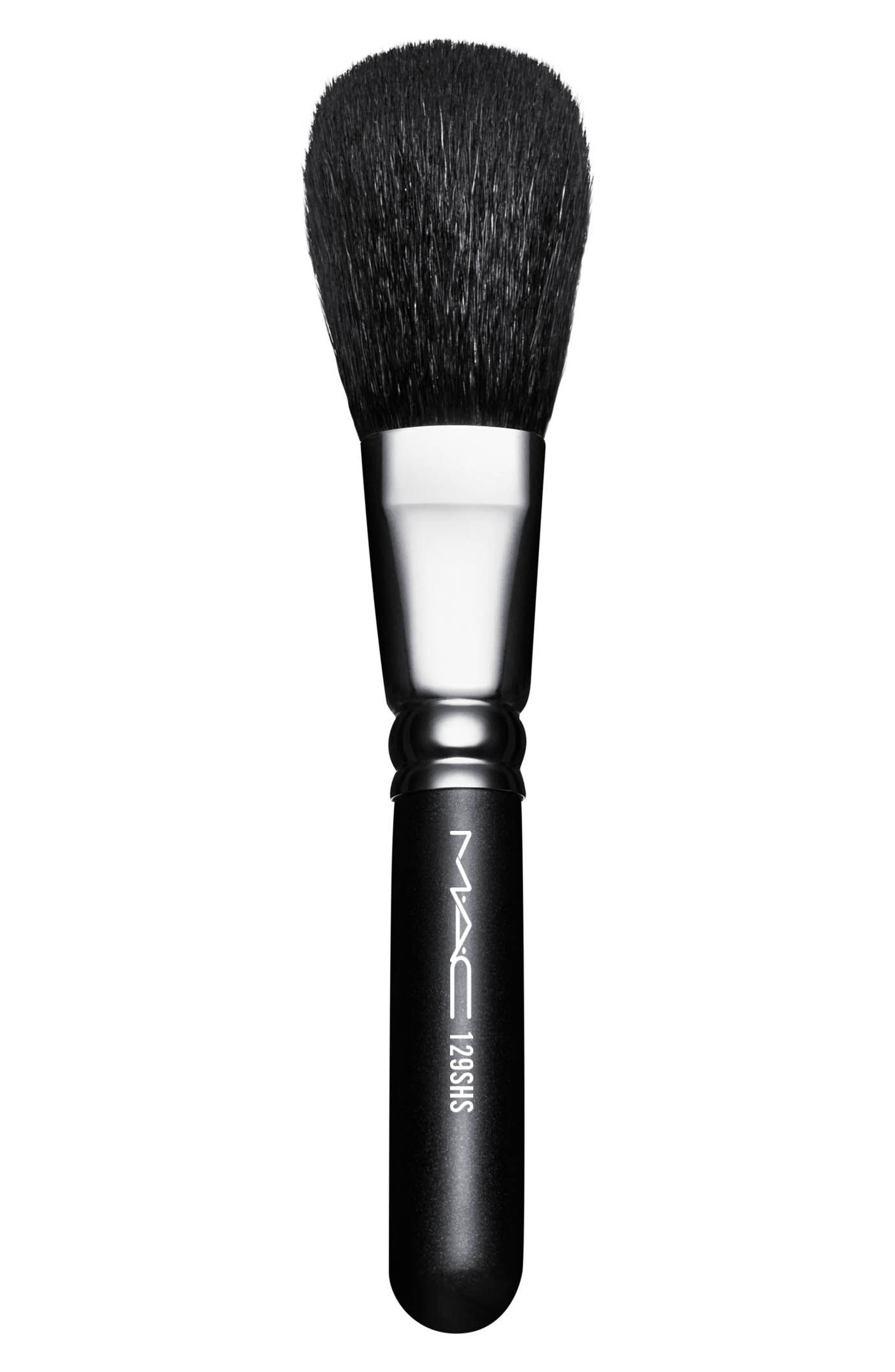 MAC 129SHS Synthetic Powder/Blush Brush,                             Main thumbnail 1, color,                             No Color