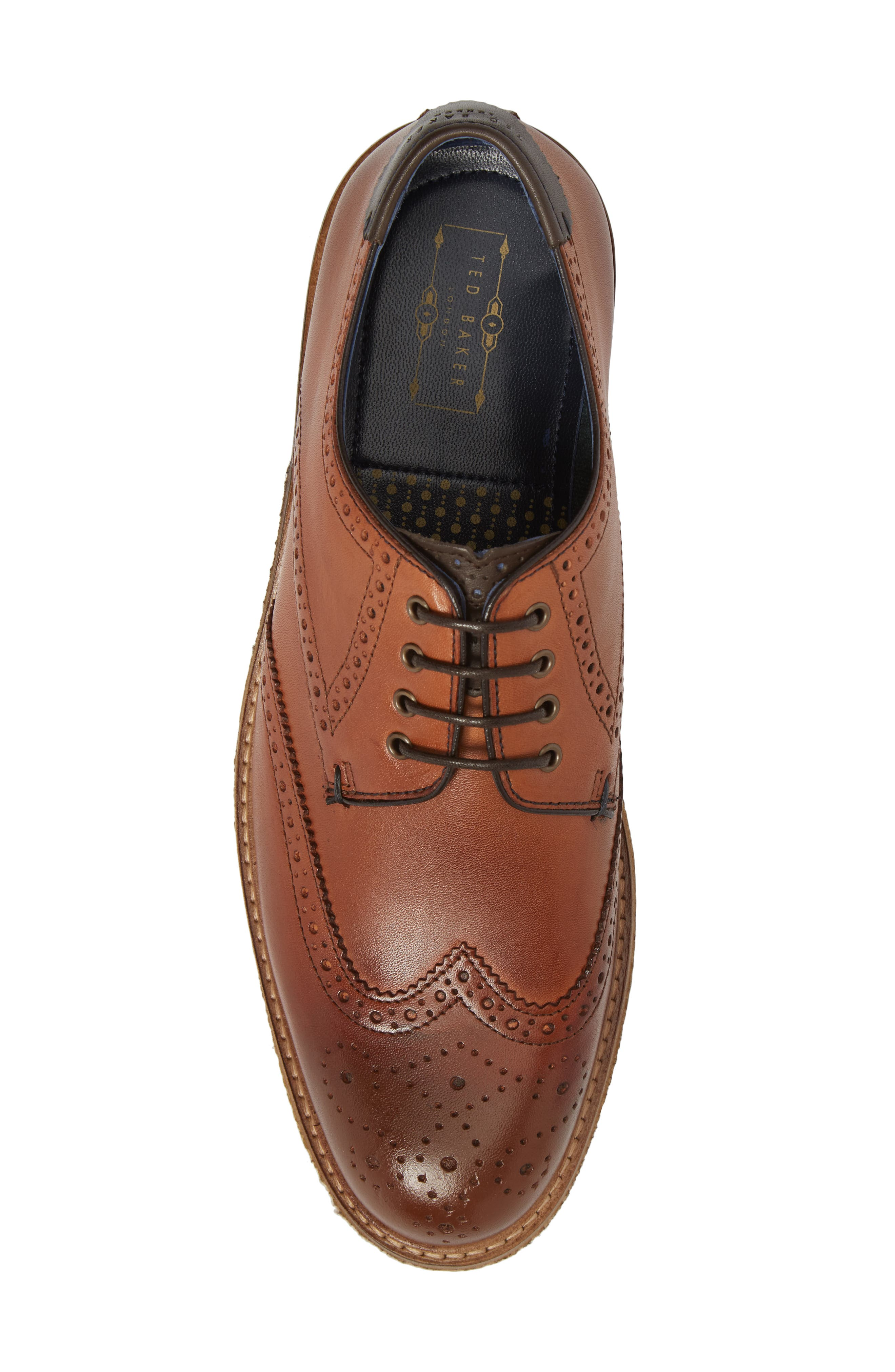 Prycce Wingtip Derby,                             Alternate thumbnail 5, color,                             Tan Leather