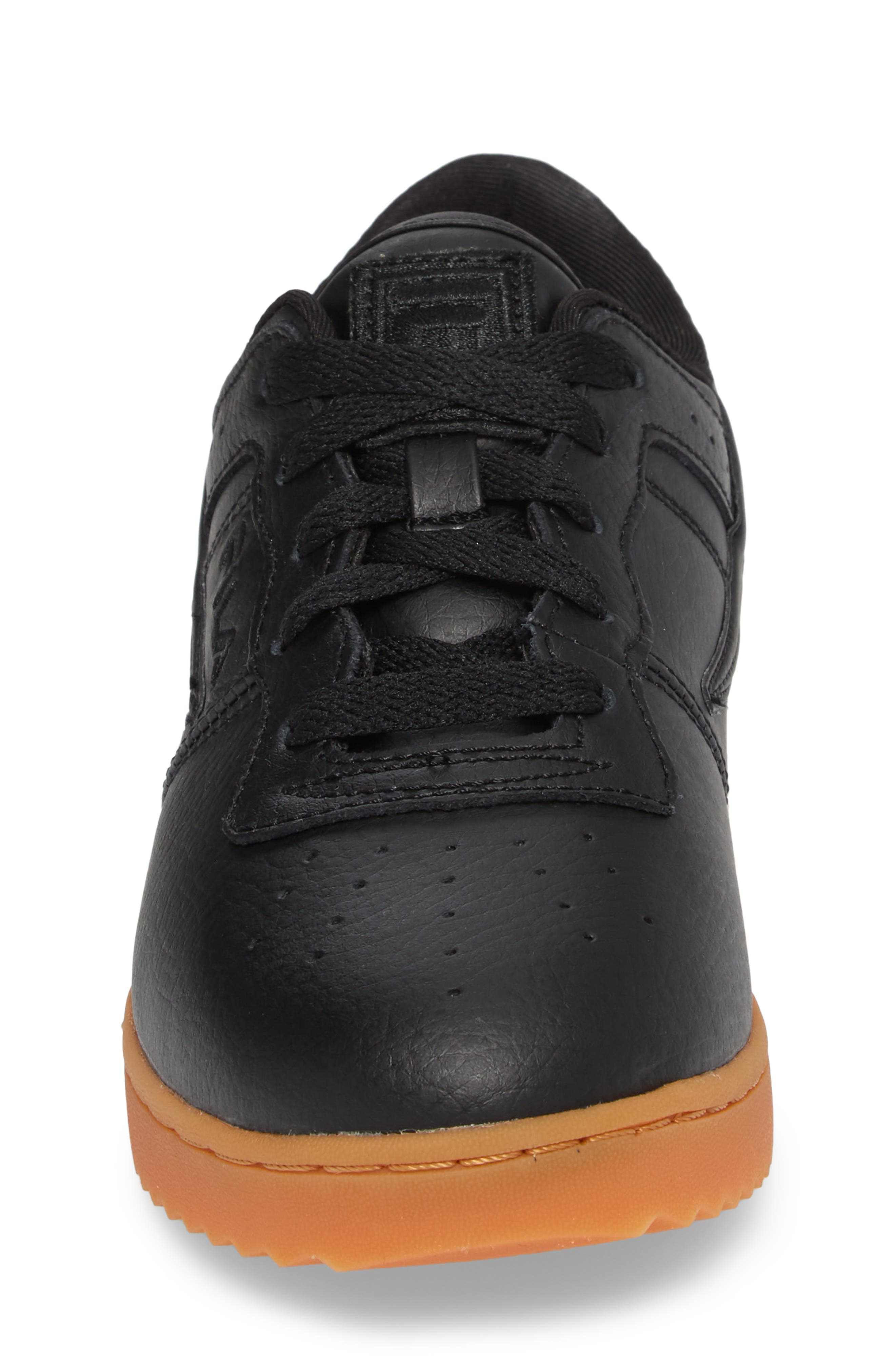 Original Fitness Sneaker,                             Alternate thumbnail 4, color,                             Black/ Gum