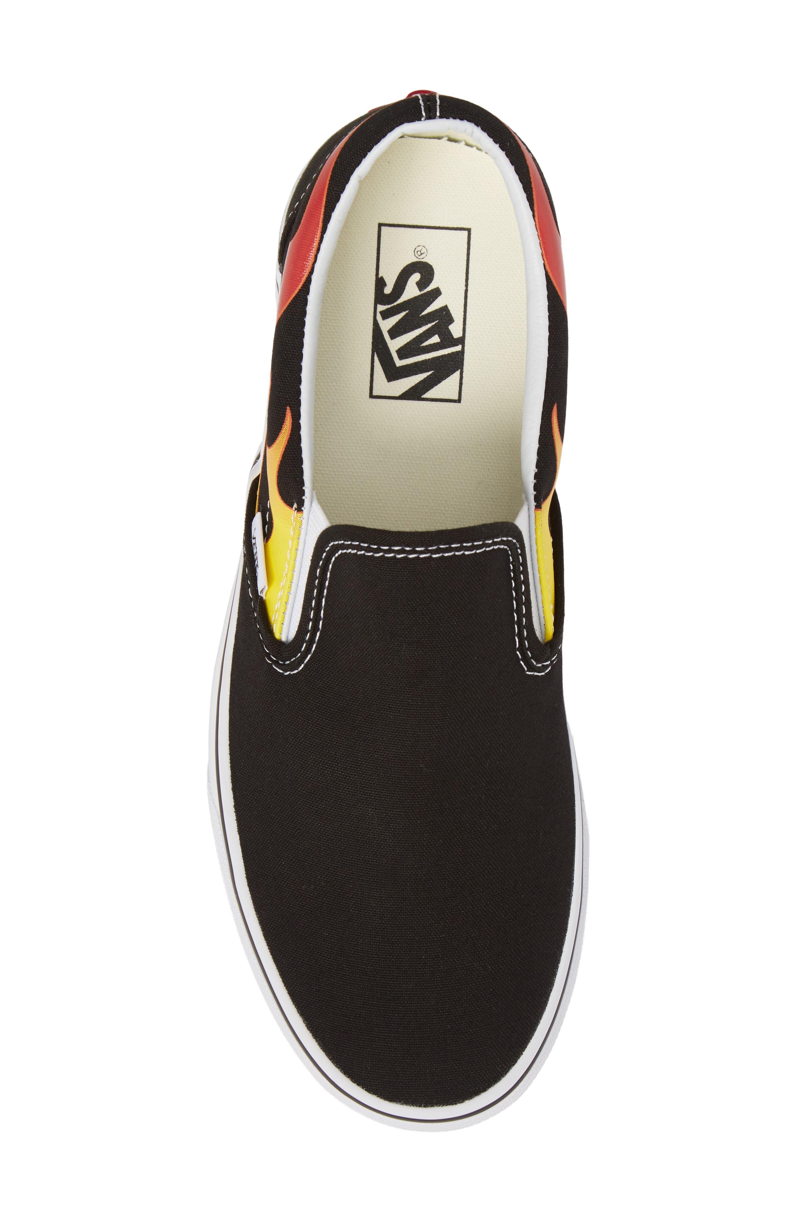 UA Classic Slip-On Sneaker,                             Alternate thumbnail 5, color,                             Black/ Black/ True White