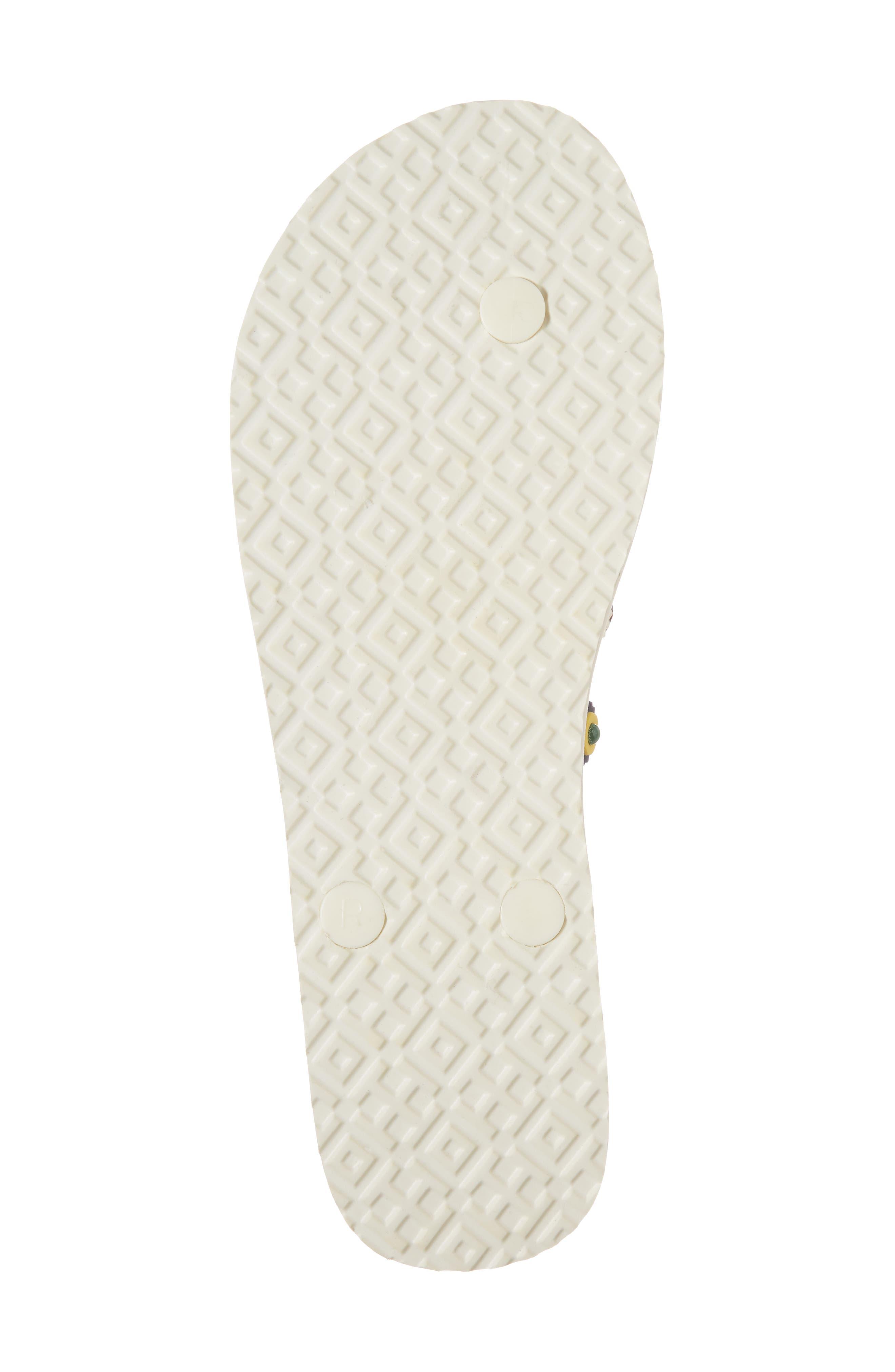 Marguerite 2 Studded Flip Flop,                             Alternate thumbnail 6, color,                             Perfect Ivory