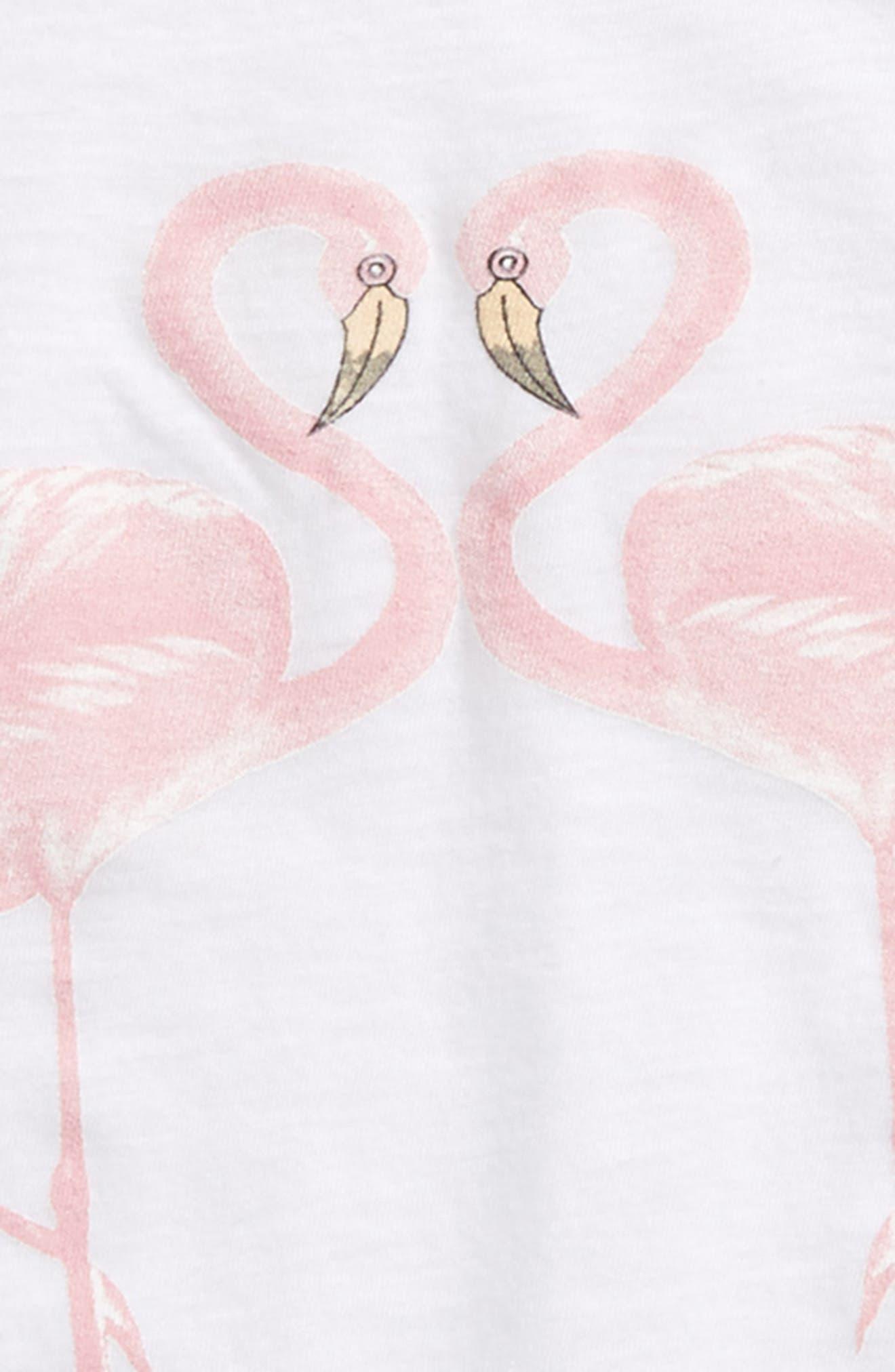 Flamingo Tee,                             Alternate thumbnail 2, color,                             White