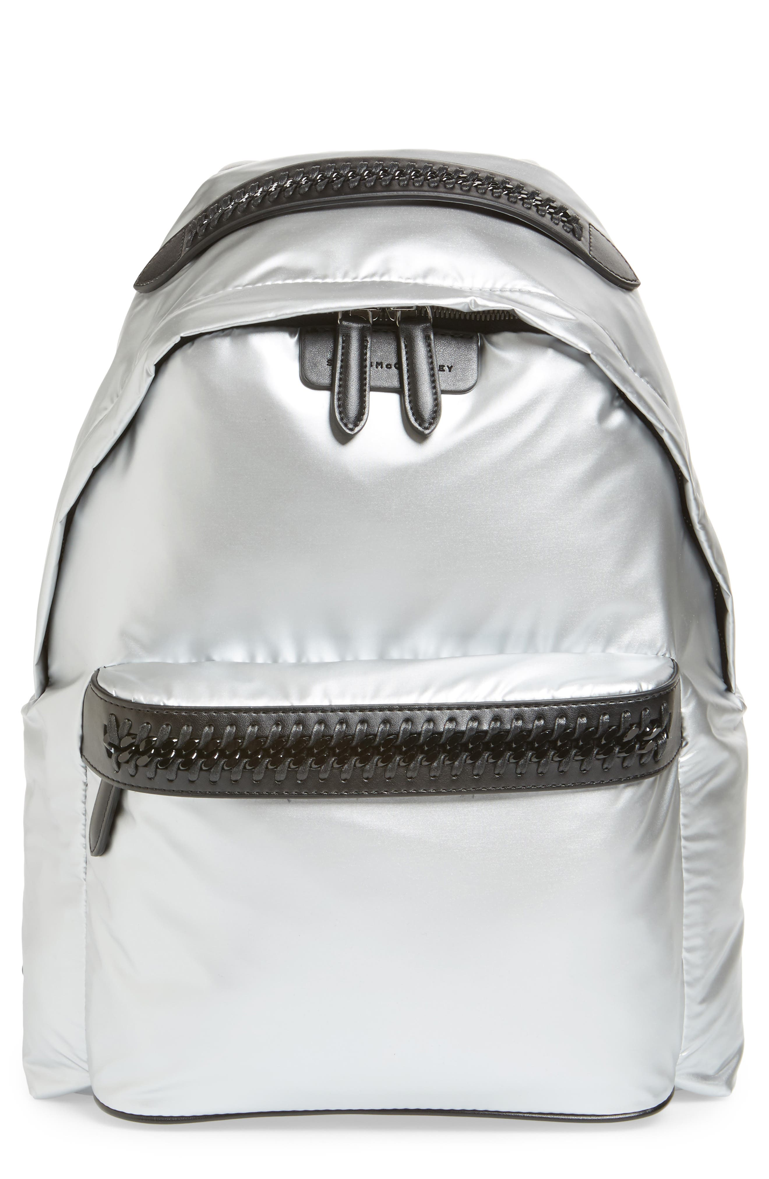 Stella McCartney Falabella Metallic Nylon Backpack