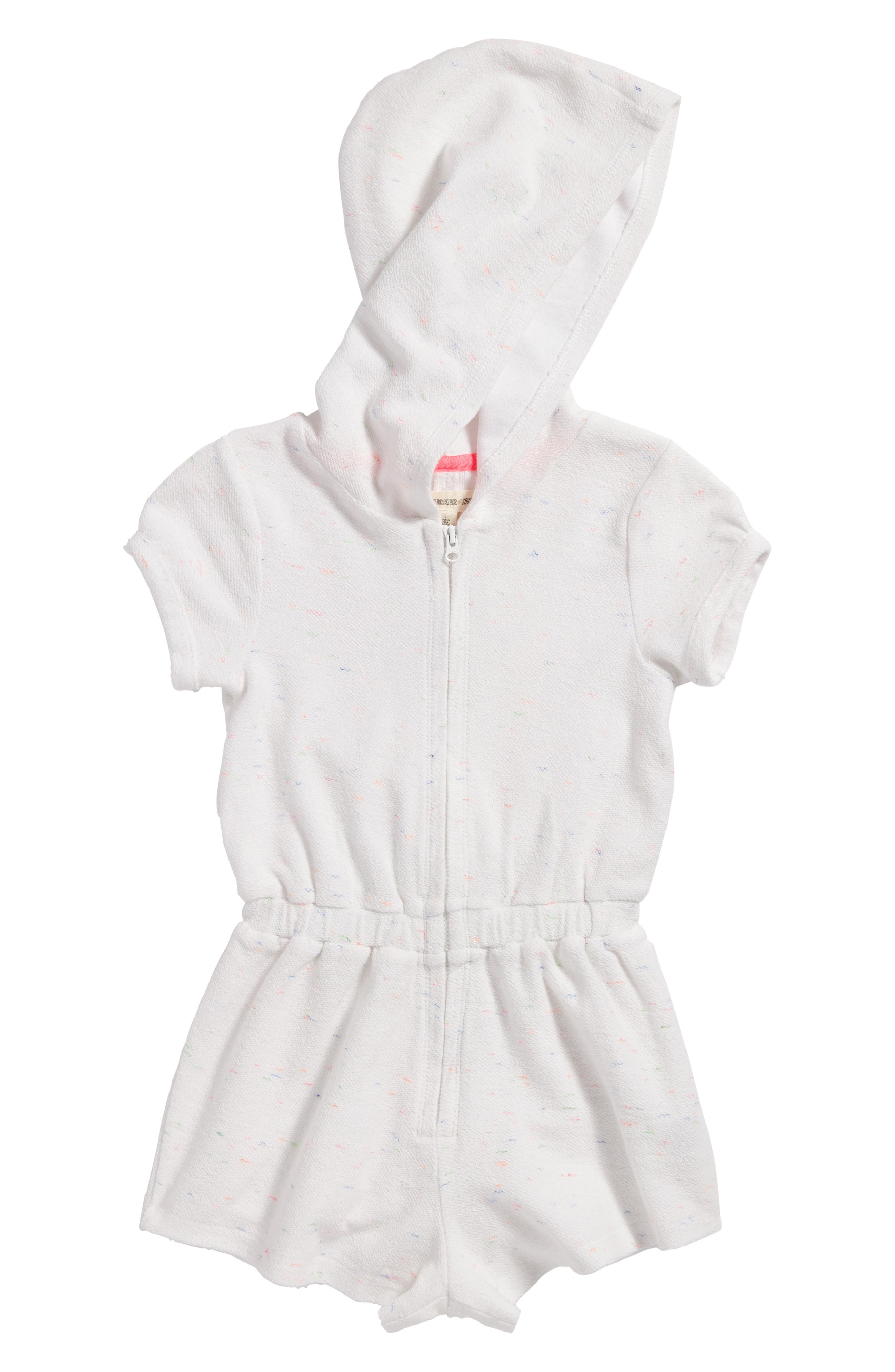 Terry Cover-Up Romper,                         Main,                         color, White