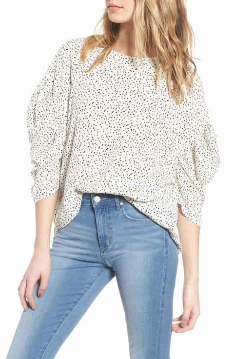 Leith Ruched Sleeve Top