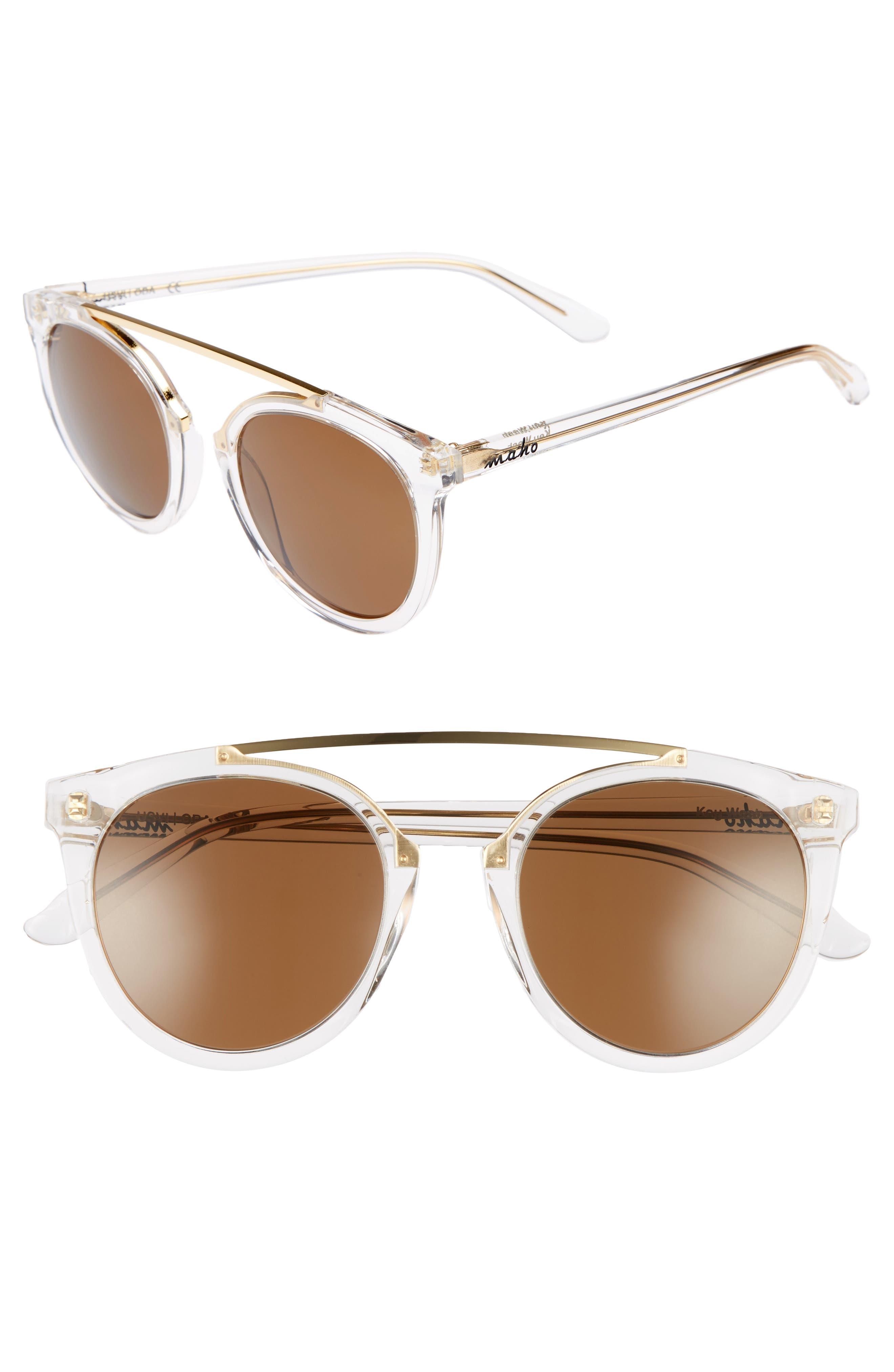 Main Image - Maho Key West 50mm Polarized Aviator Sunglasses