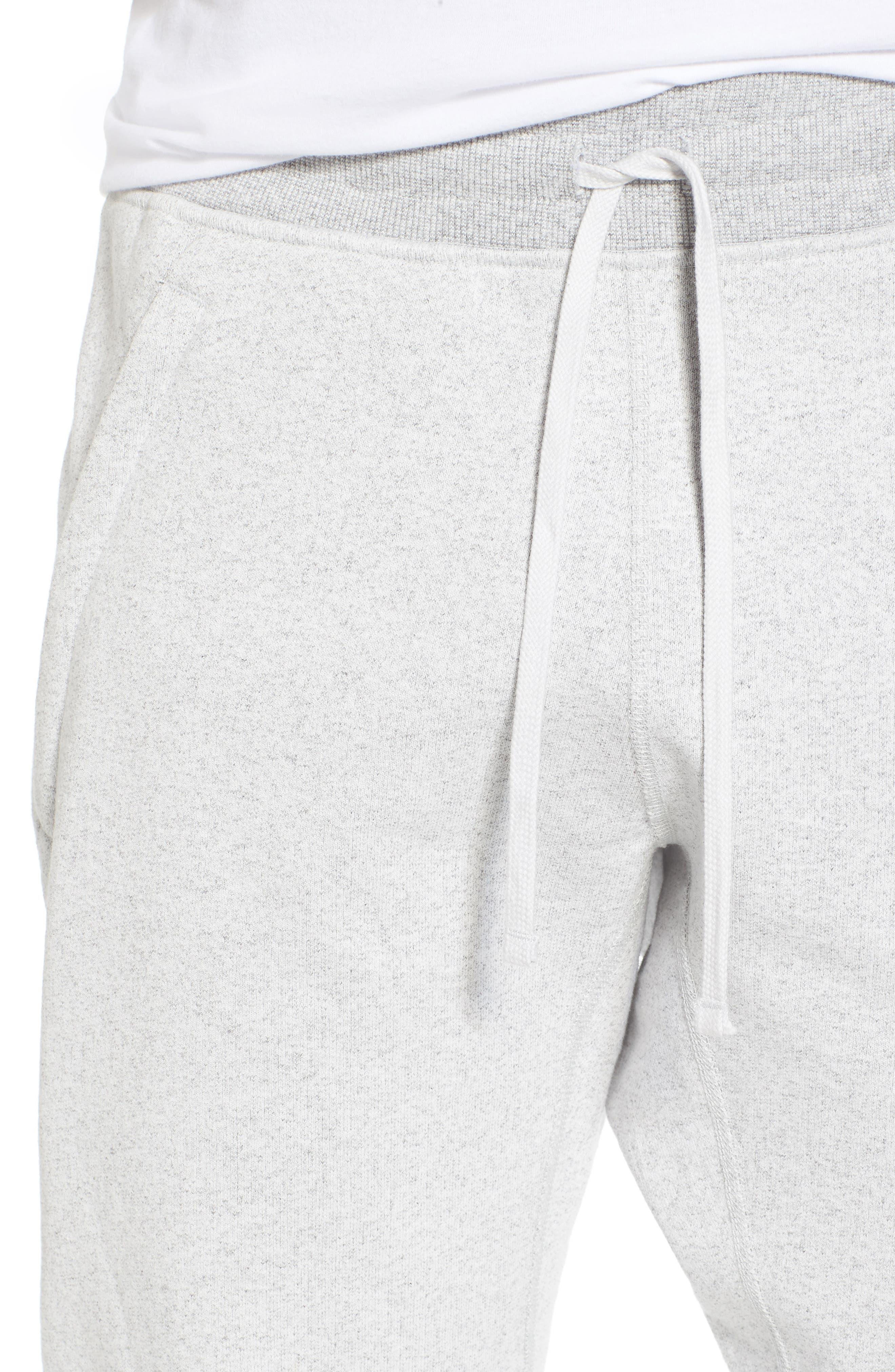 Slim Fit Heavyweight Sweatpants,                             Alternate thumbnail 4, color,                             Chalk