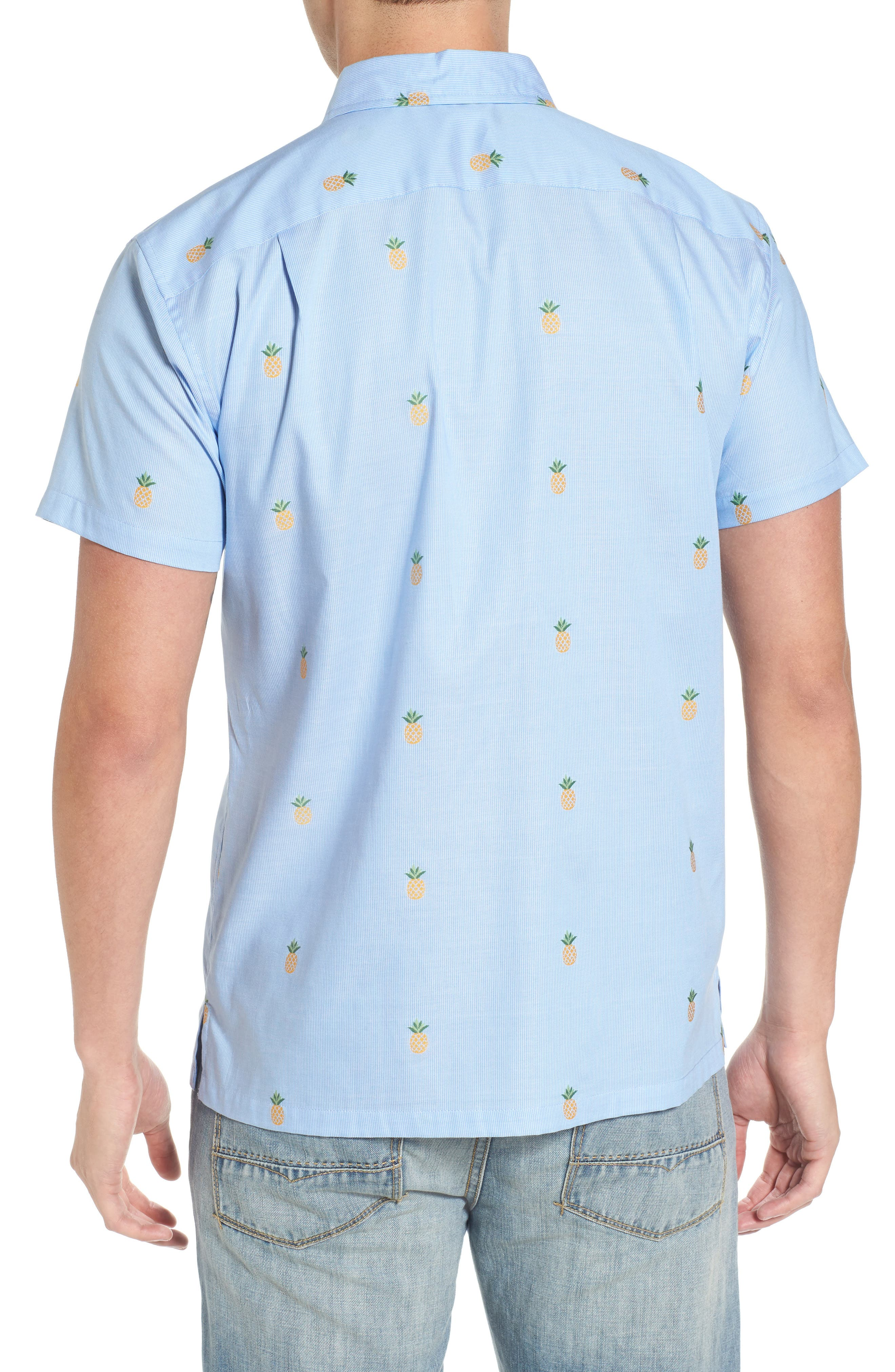 Dole 'N' Row Trim Fit Embroidered Sport Shirt,                             Alternate thumbnail 2, color,                             Blue