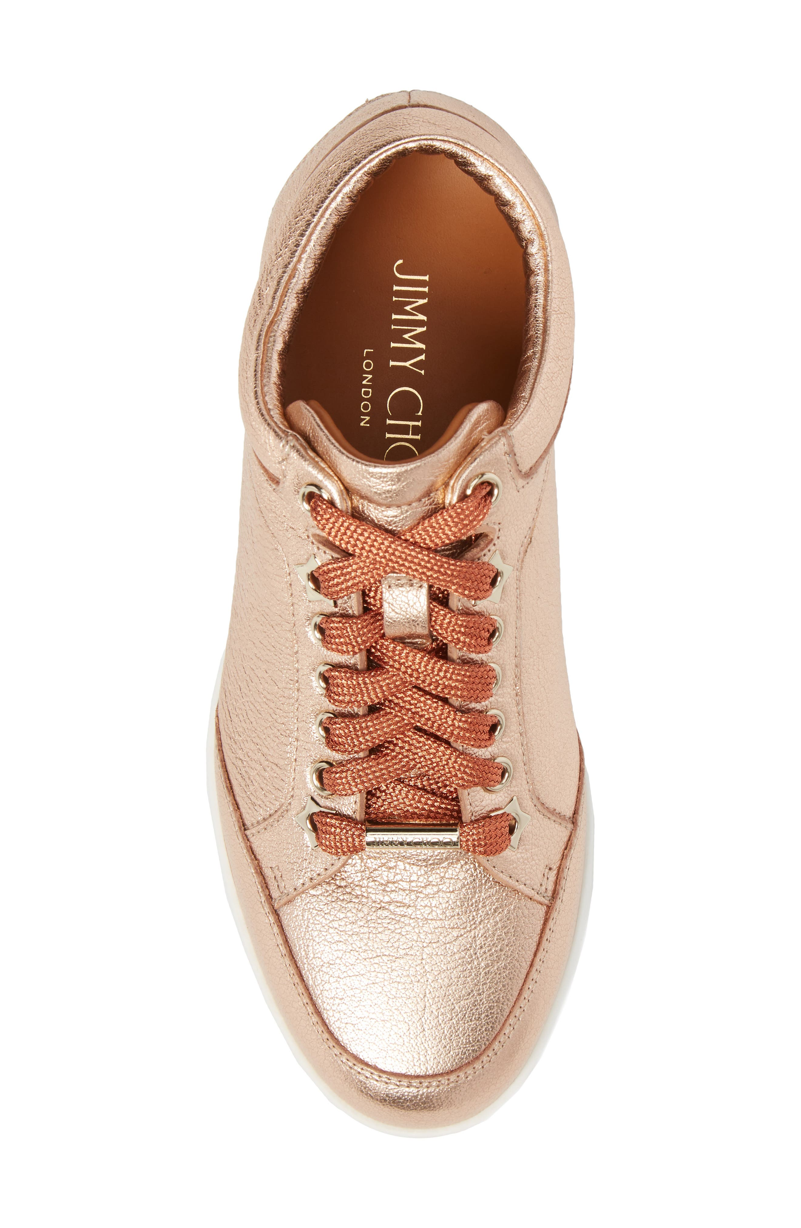 Alternate Image 5  - Jimmy Choo Miami Metallic Sneaker (Women)